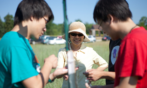 Prof. Liu with students