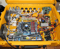 Inside of robot