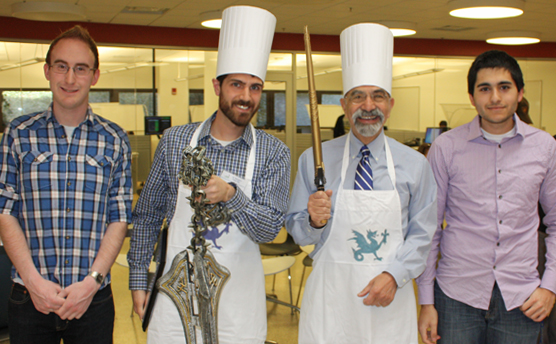 L-R: Kyle Lady, Dr. Andrew DeOrio, Prof. Fawwaz Ulaby, and Ari Chivukula
