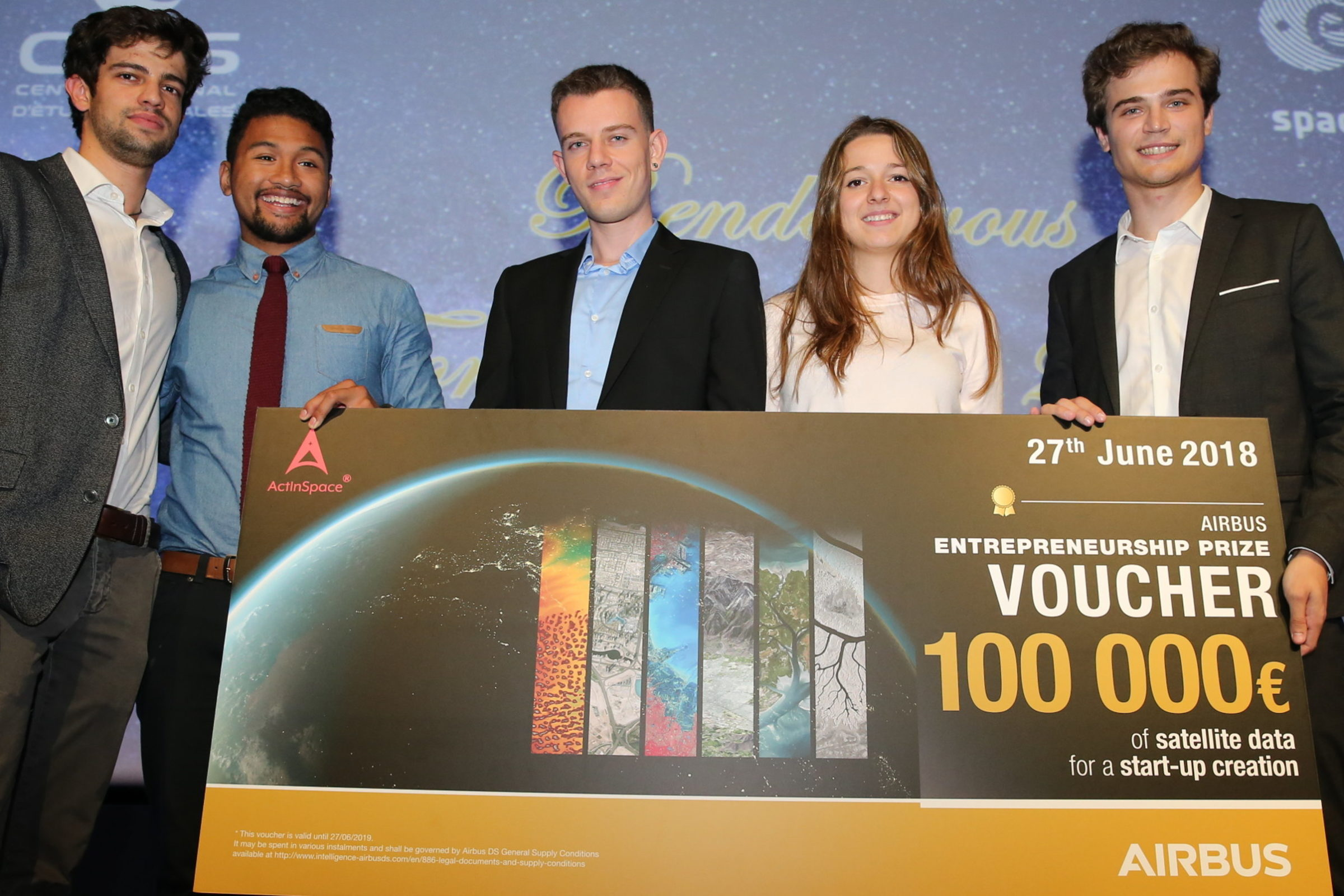 Théau Héral and Andry-Tohy Rakotovololona win Airbus Defense and Space Entrepreneurship Prize