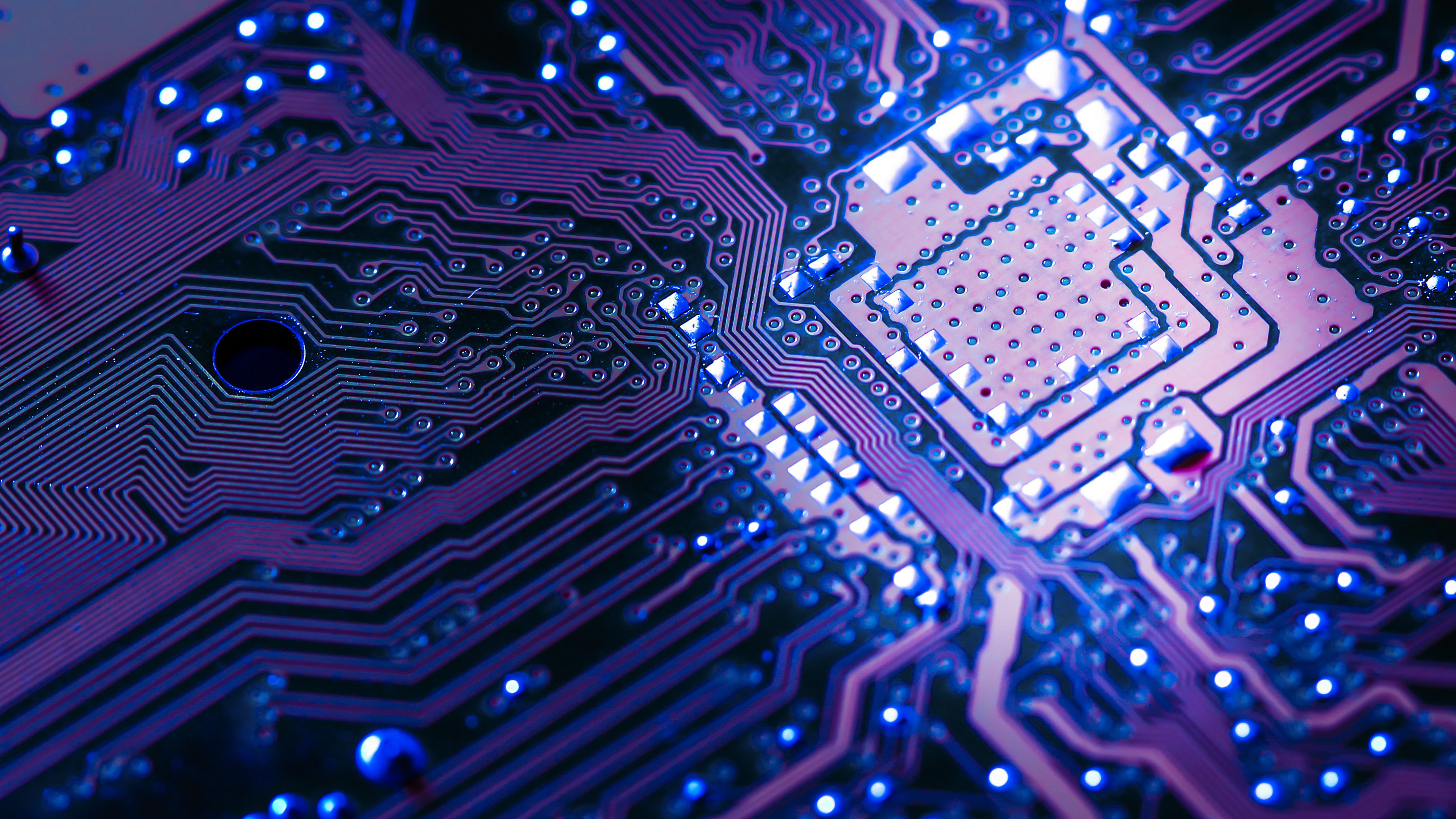 A close up of a computer chip