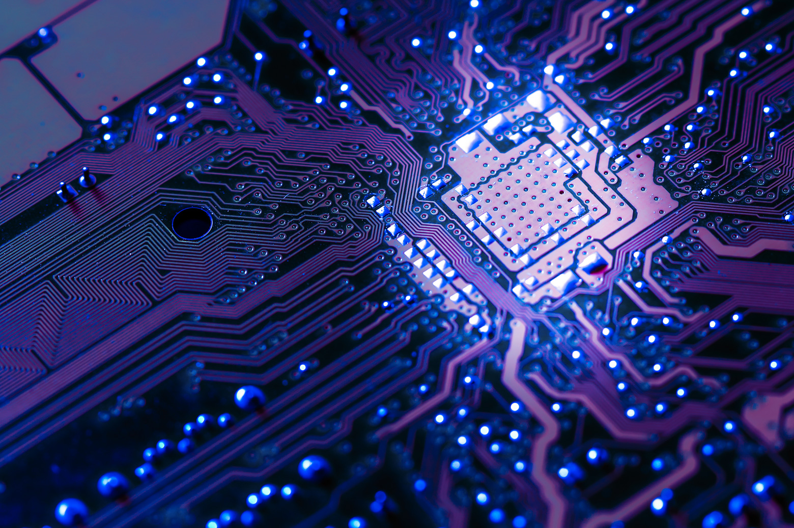 A close up of a computer chip. Courtesy Getty Images.