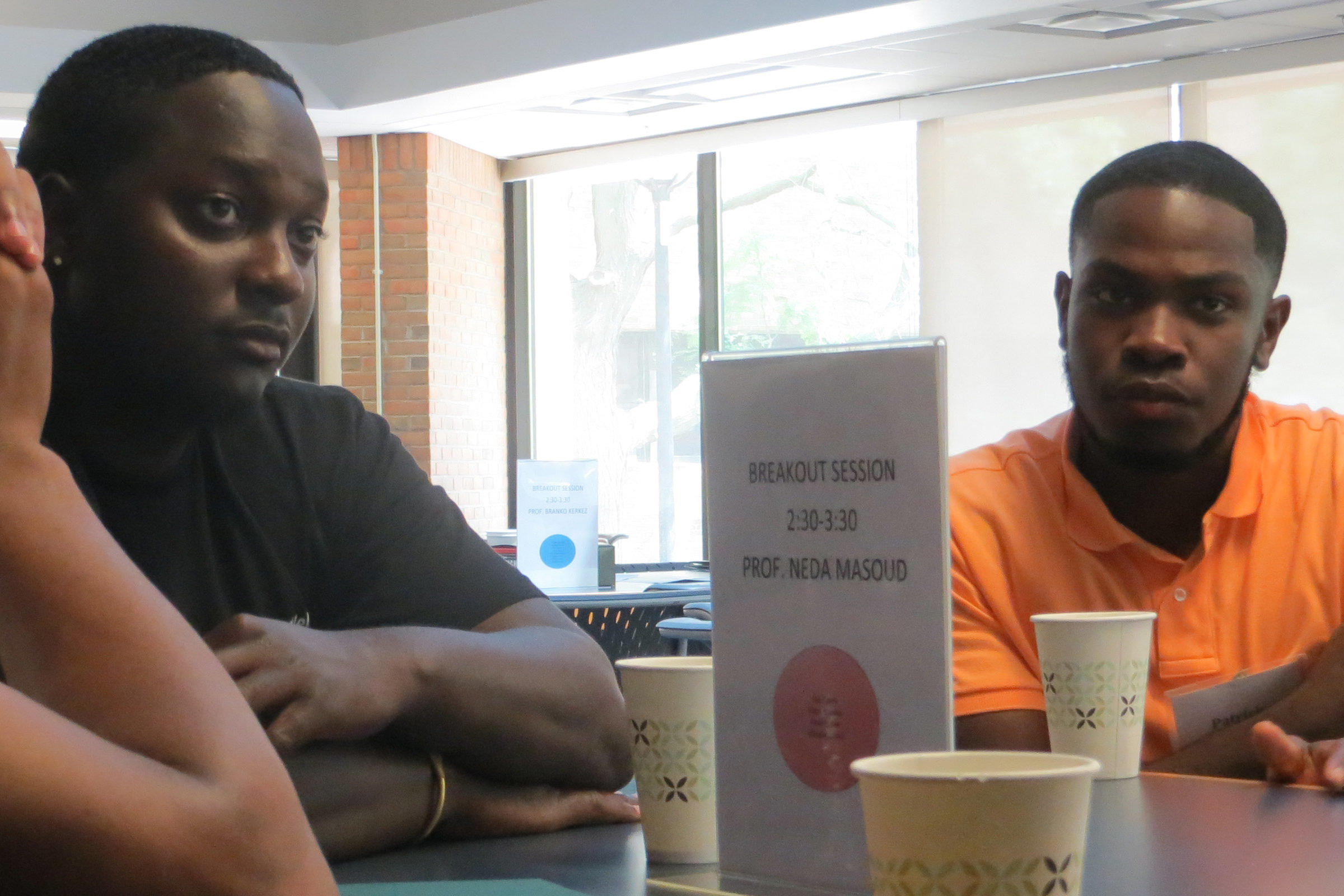MDOT student interns talk to CEE faculty