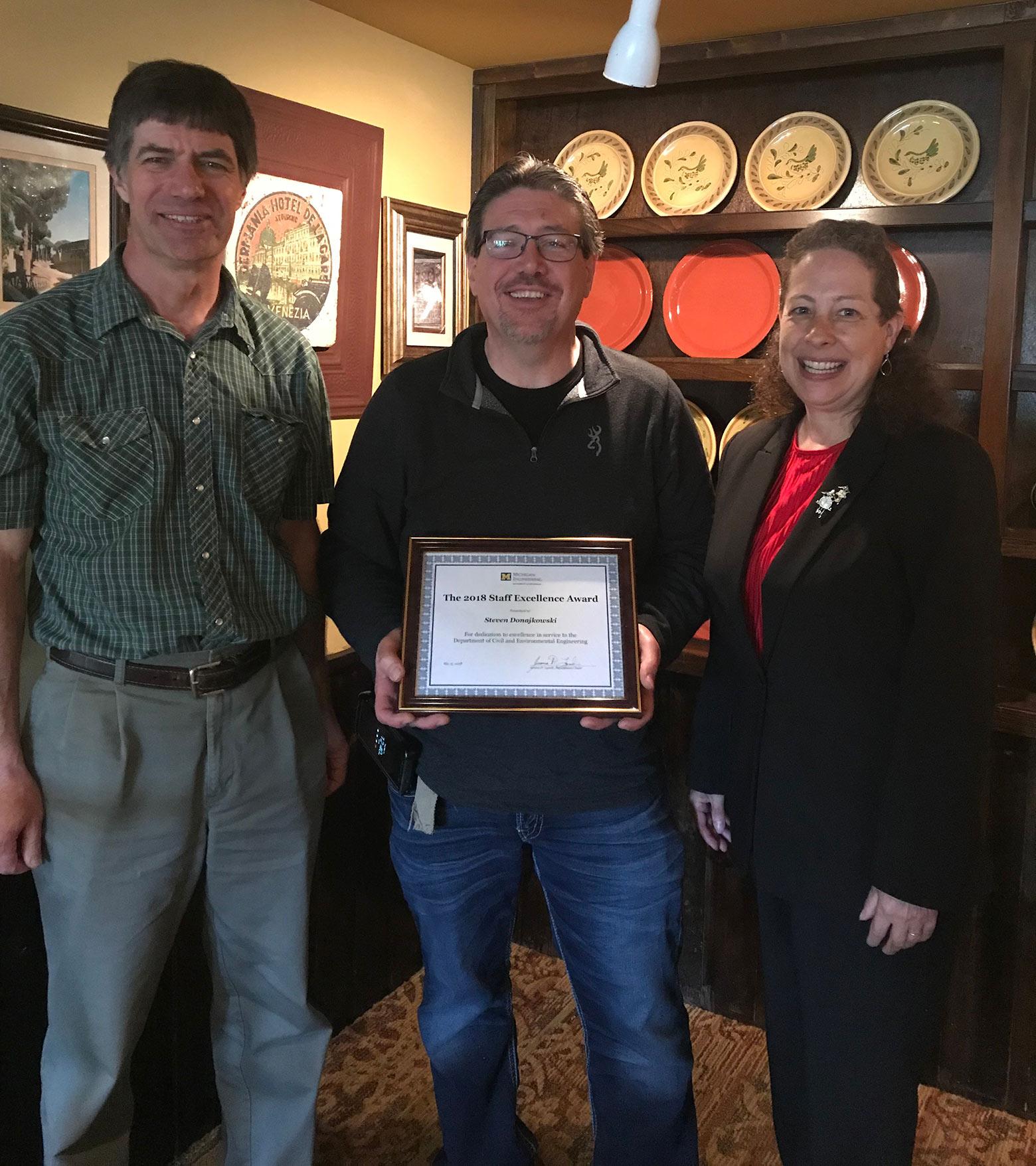 Steve Donajkowski Staff Excellence Award