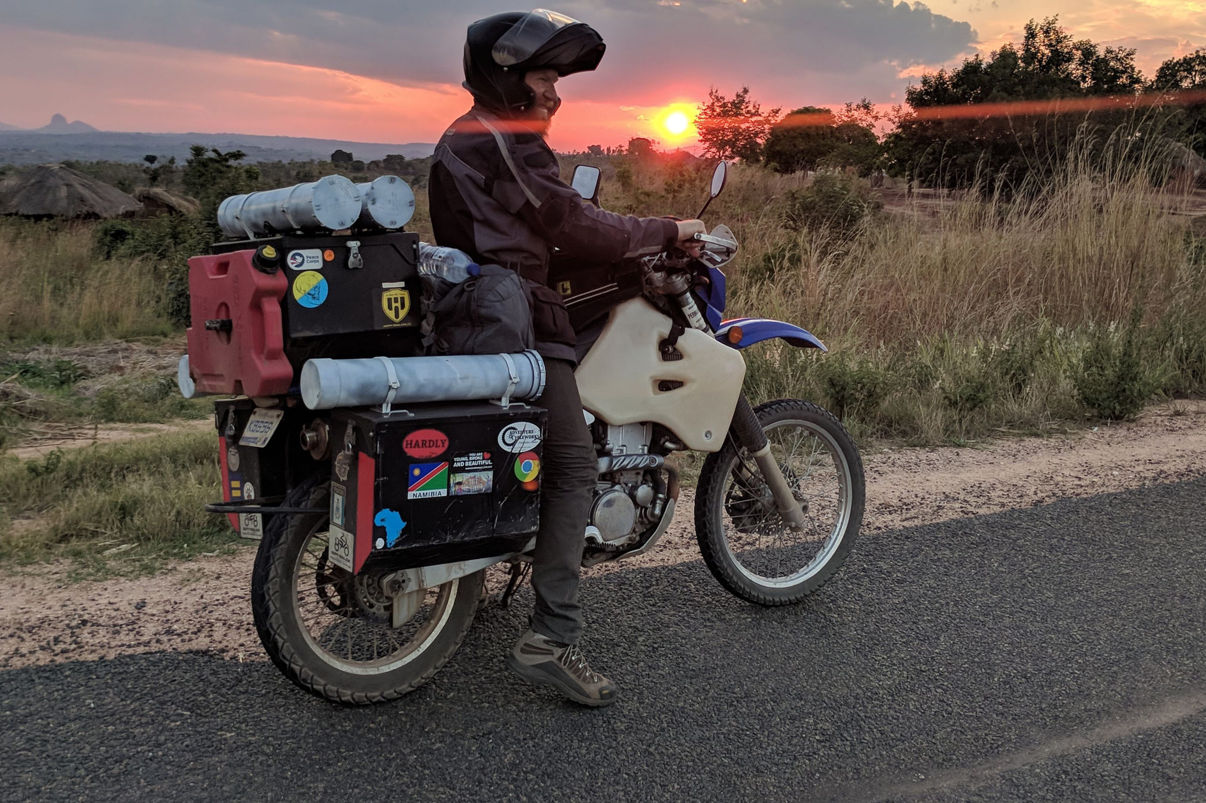 Michigan Engineer Levi Weintraub pauses to enjoy the sunset near Nampula, Mozambique.