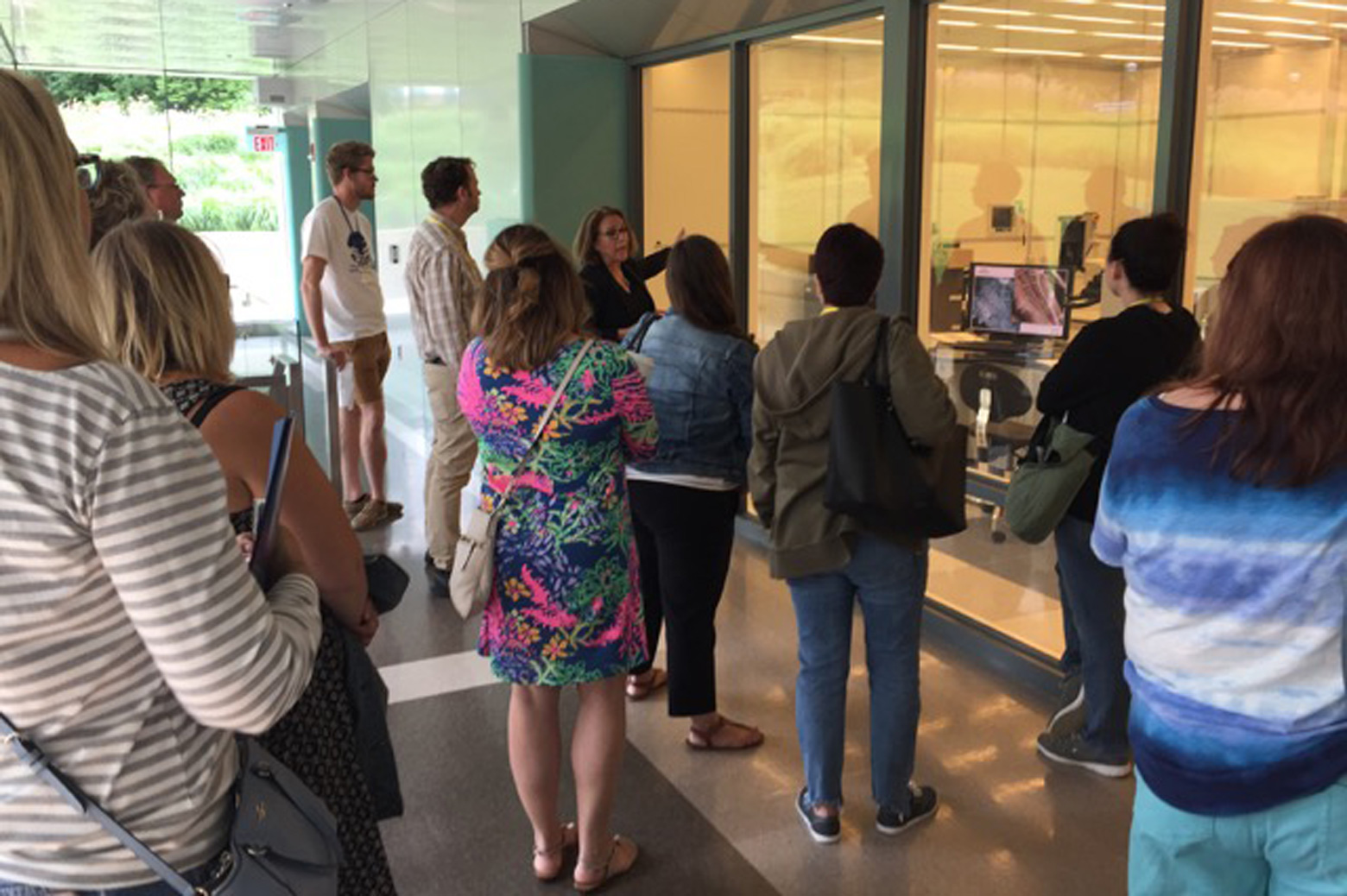 Teachers visiting Lurie Nanofabrication Laboratory.