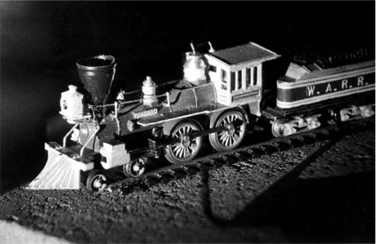 holograph of model train