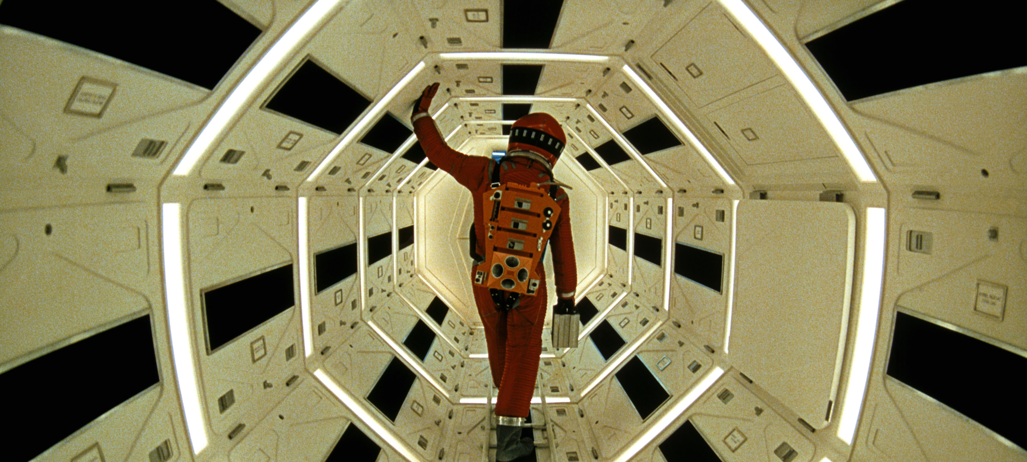 A screen capture from the film 2001: A Space Odyssey