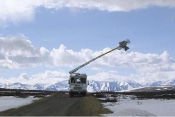 Radiometer on truck