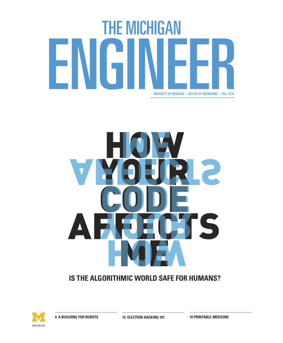 Cover of the Fall 2018 Michigan Engineer