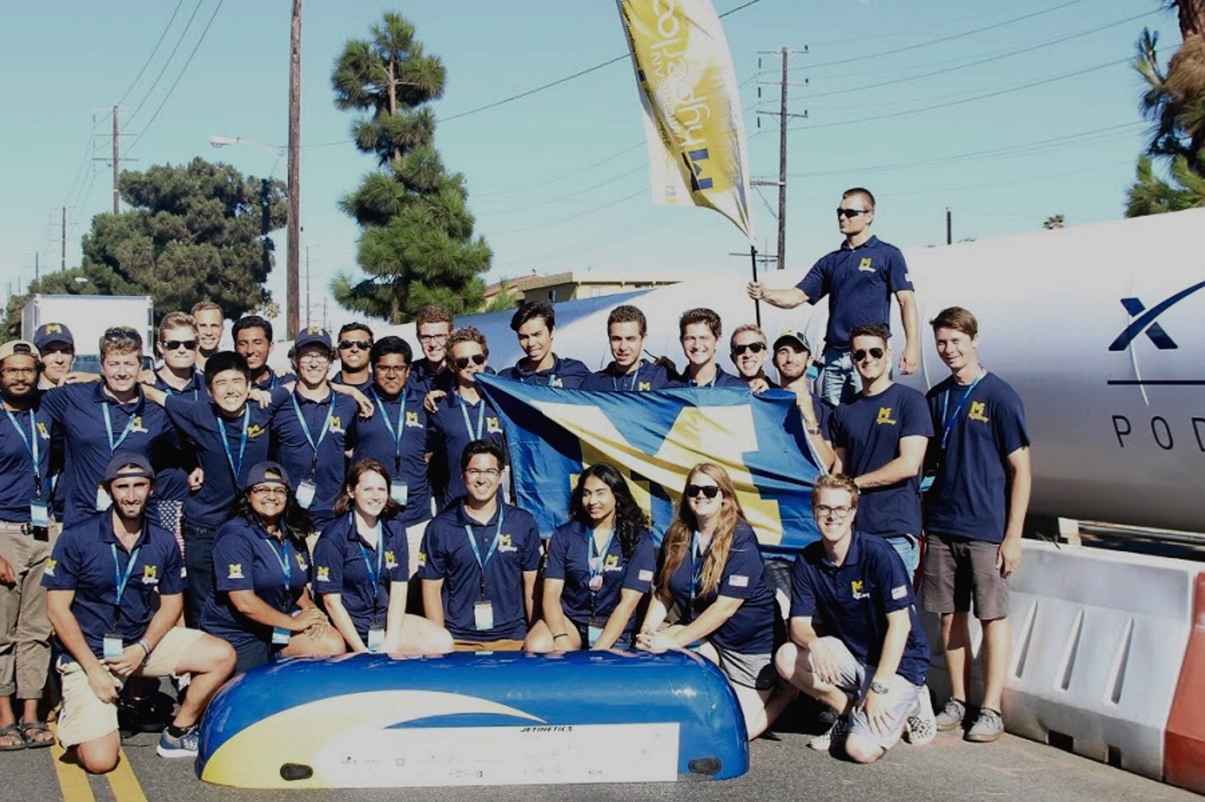 Michigan Hyperloop members compete at the annual competition in Hawthorne, CA.
