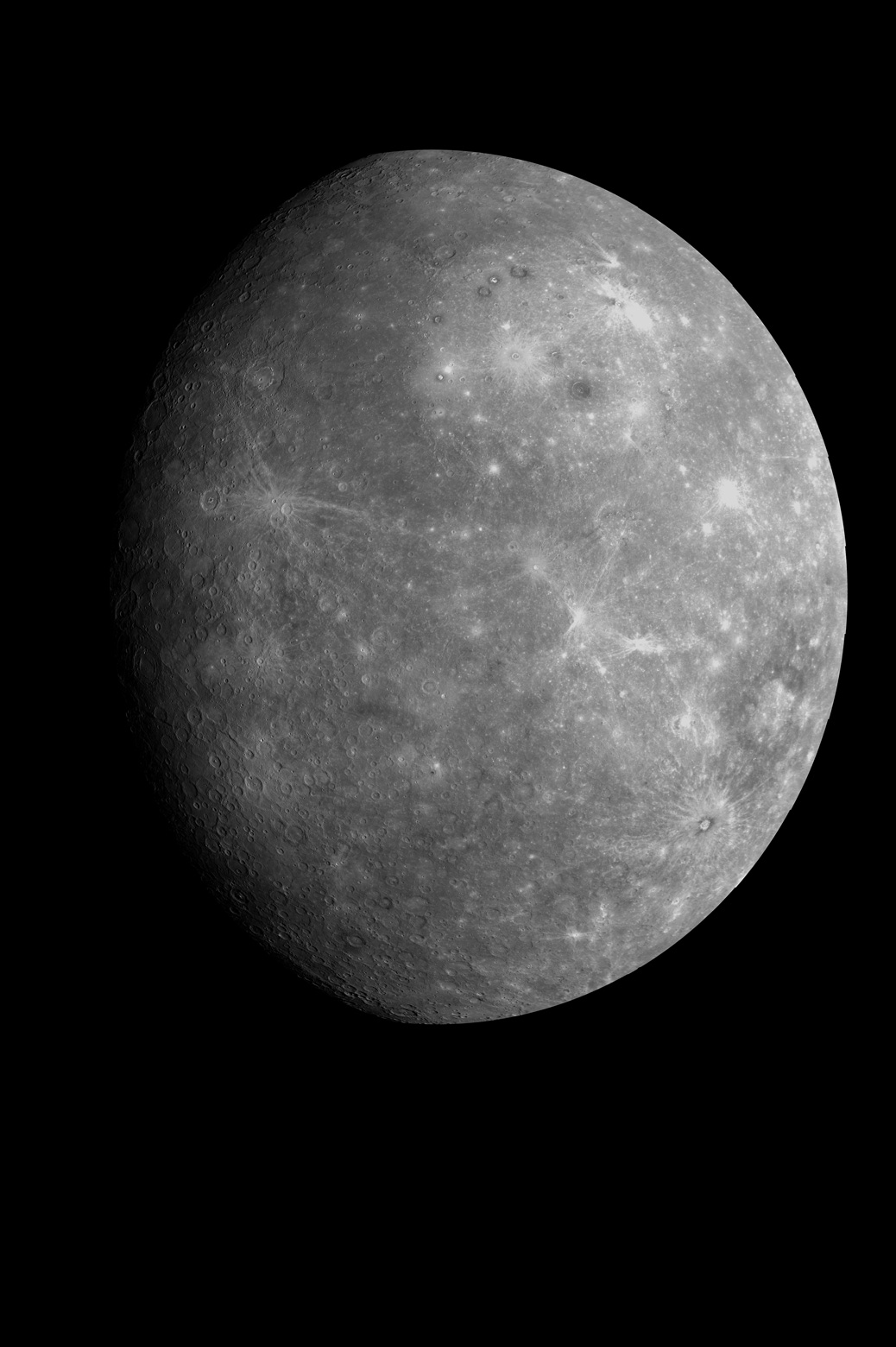 Image of Mercury taken from NASA's MESSENGER spacecraft. Credit: NASA