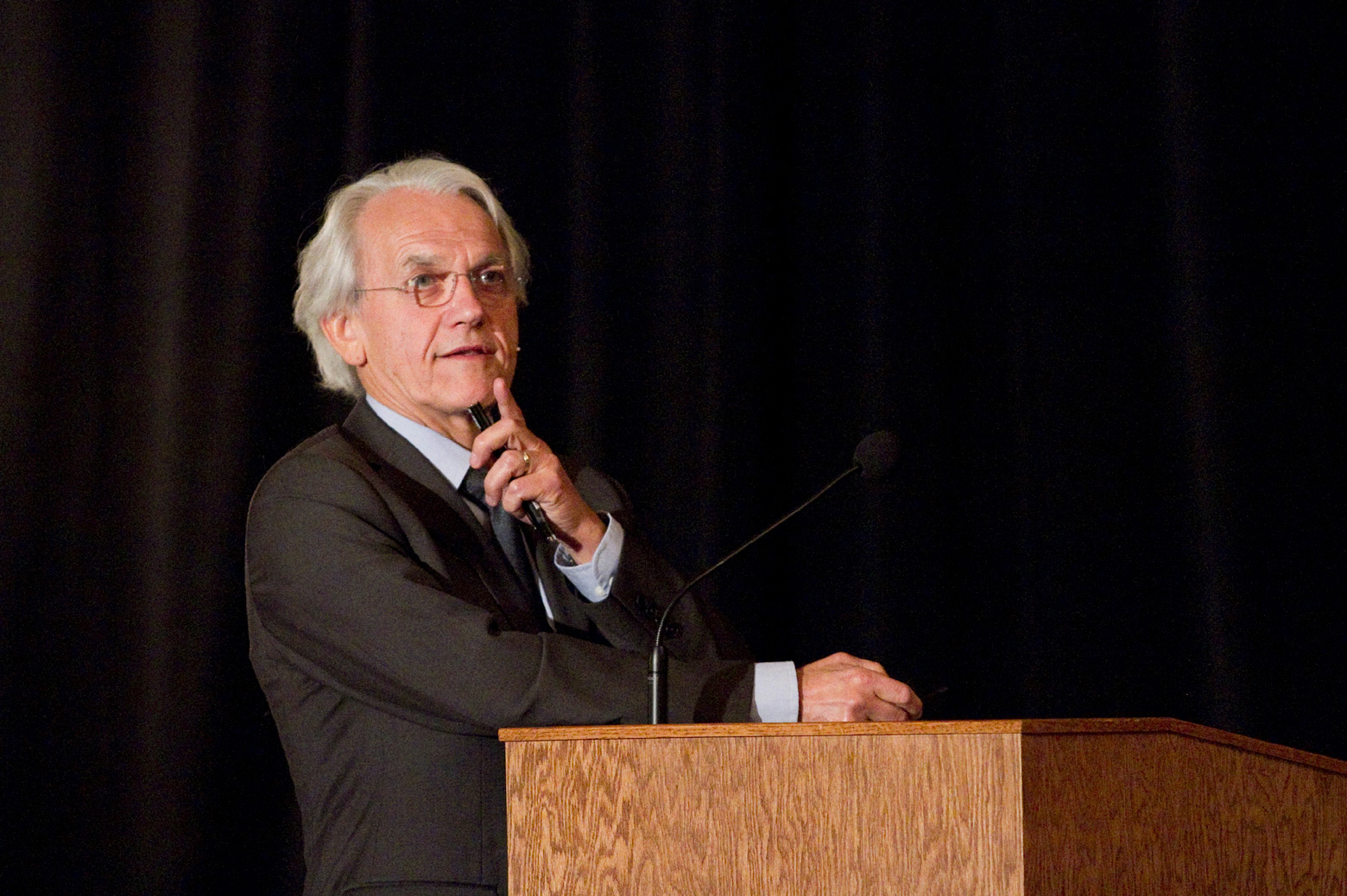 Gerard Mourou speaks at a symposium in 2011 marking the 50th anniversary of the discovery of nonlinear optics at U-M. Daryl Marshke/Michigan Photography
