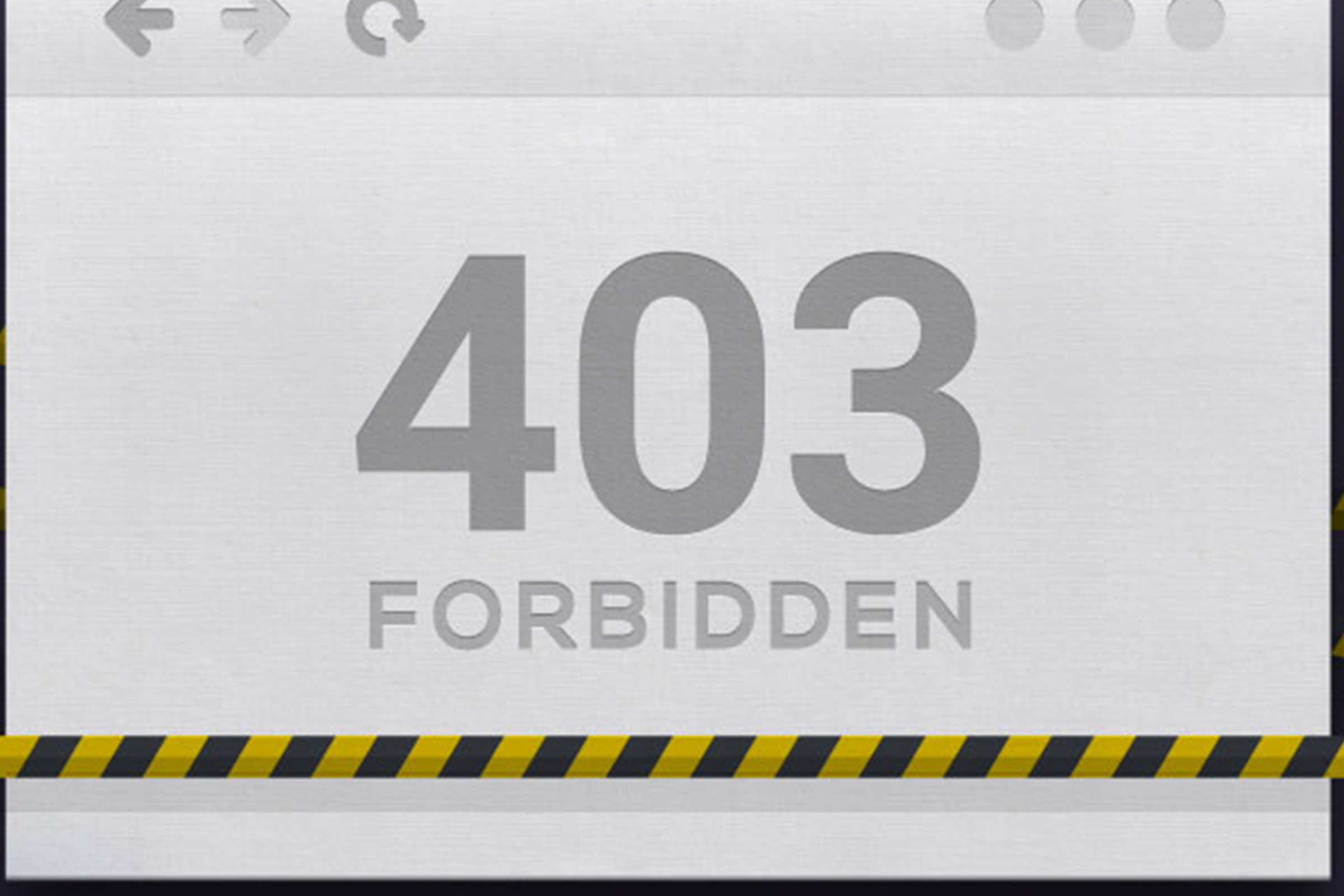 403 error message