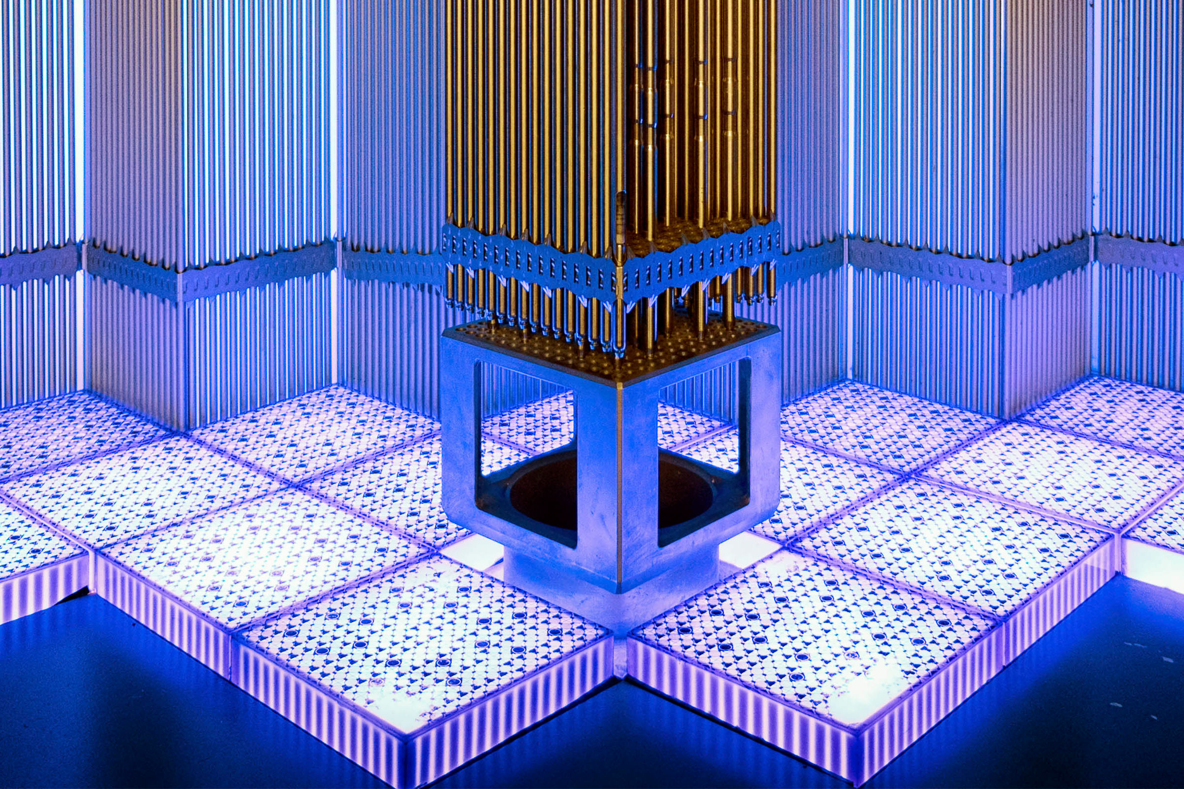 Model of a nuclear fuel assembly. Credit: Getty Images