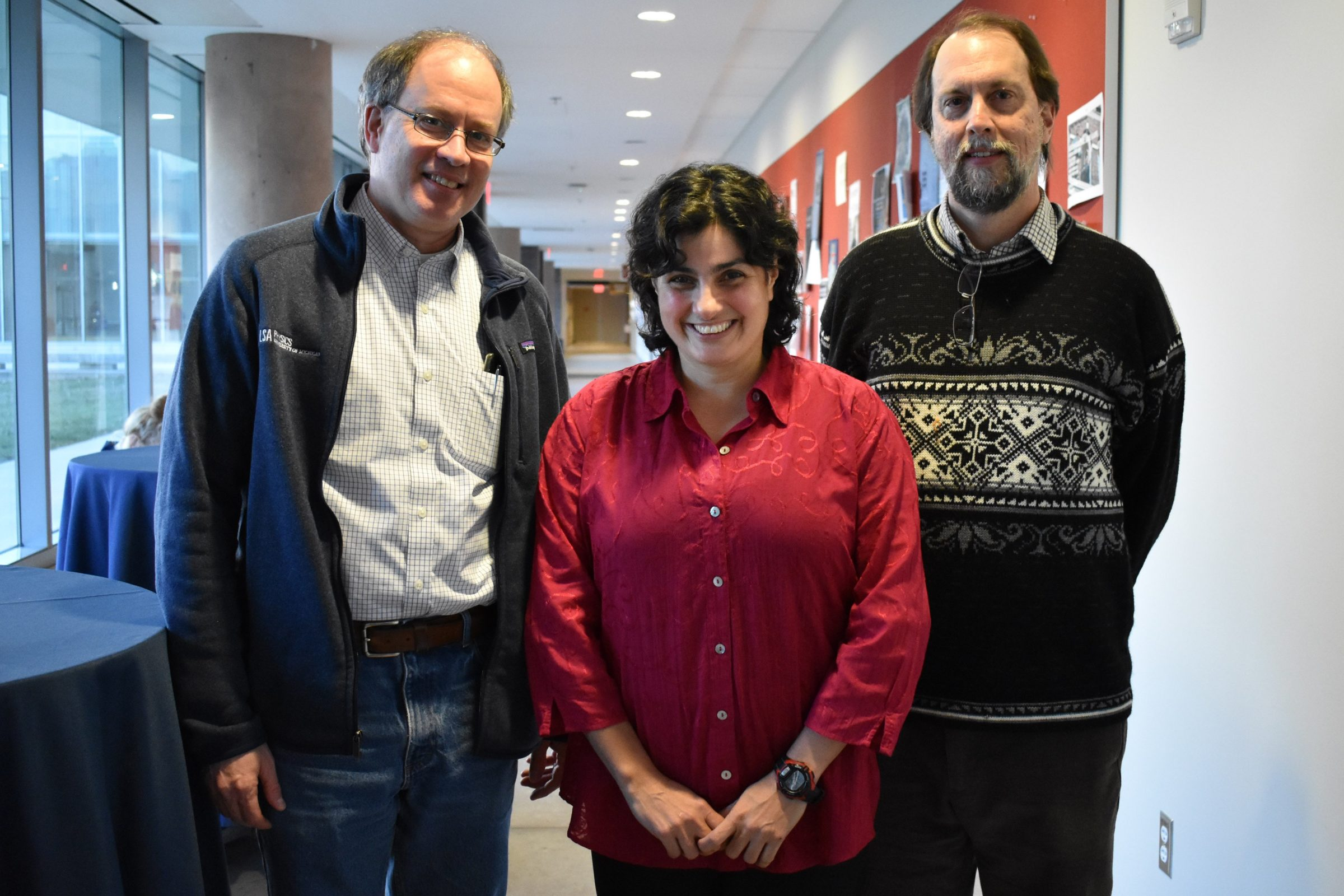 Prof. Mavalvala, Prof. Theodore Norris, and Prof. Steven Cundiff