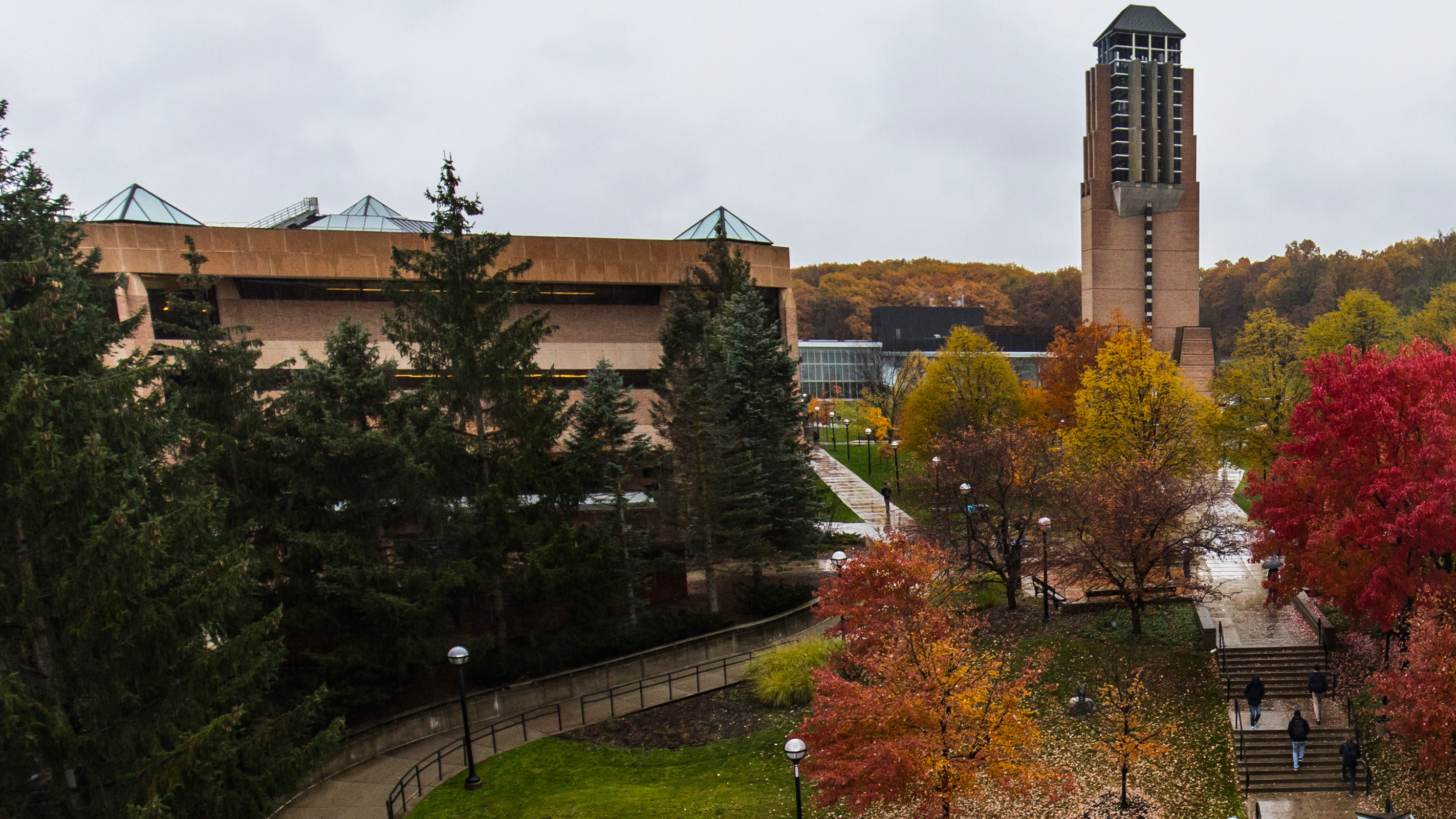 North campus' Grove and Duderstadt during fall 2018. Photo: Evan Dougherty