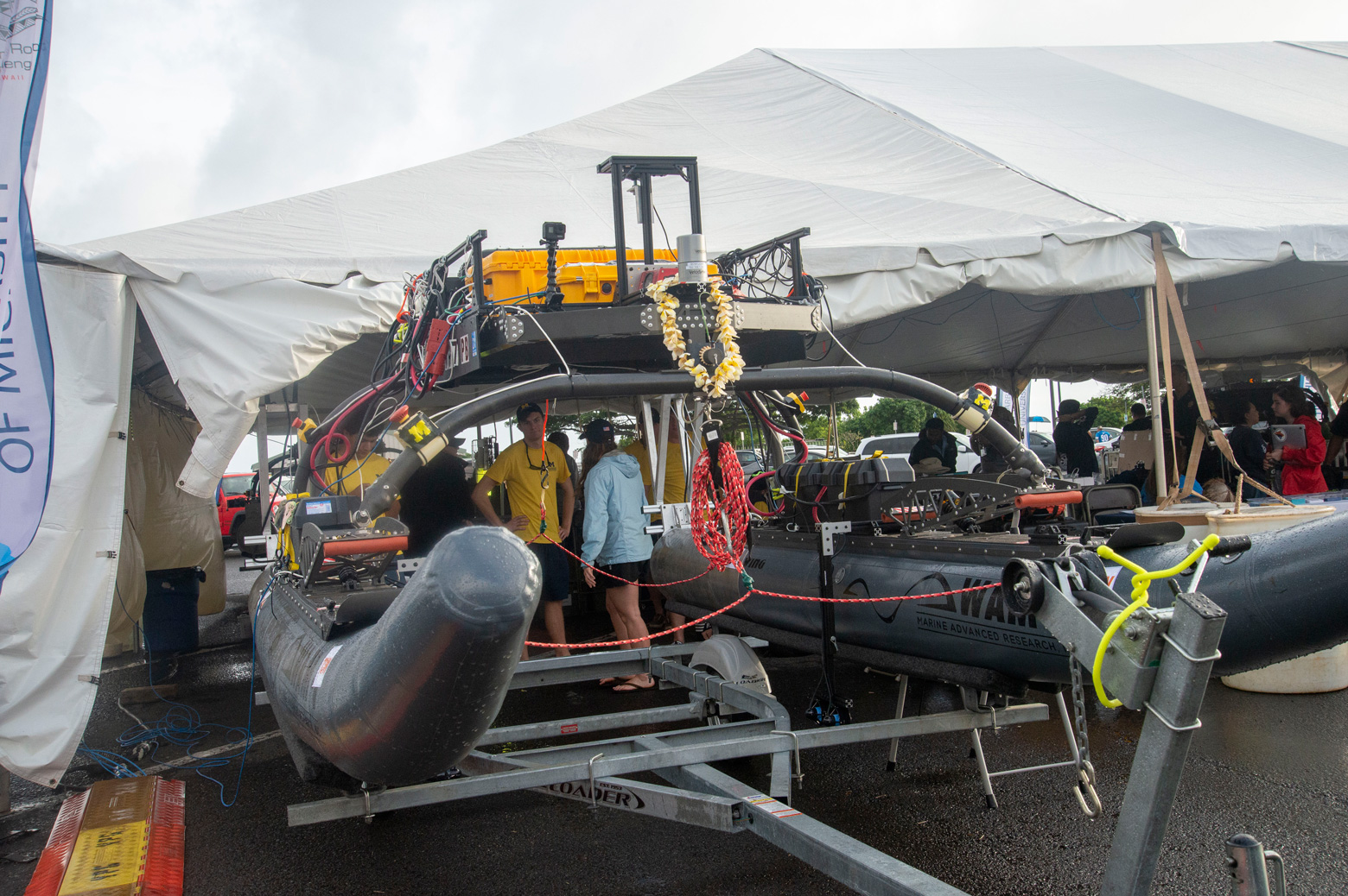The Michigan RobotX team competed in the 2018 Maritime RobotX Challenge in Honolulu on Dec. 8-15. Photo: Michigan RobotX
