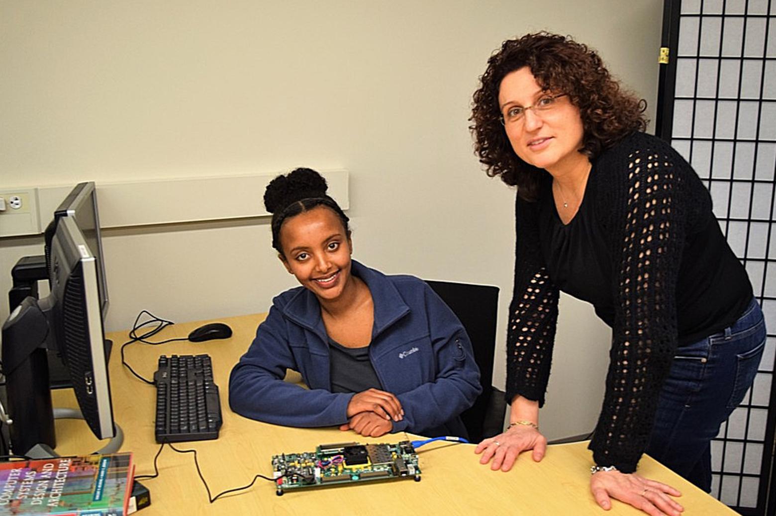 Hiwot Kassa and her advisor Prof. Valeria Bertacco