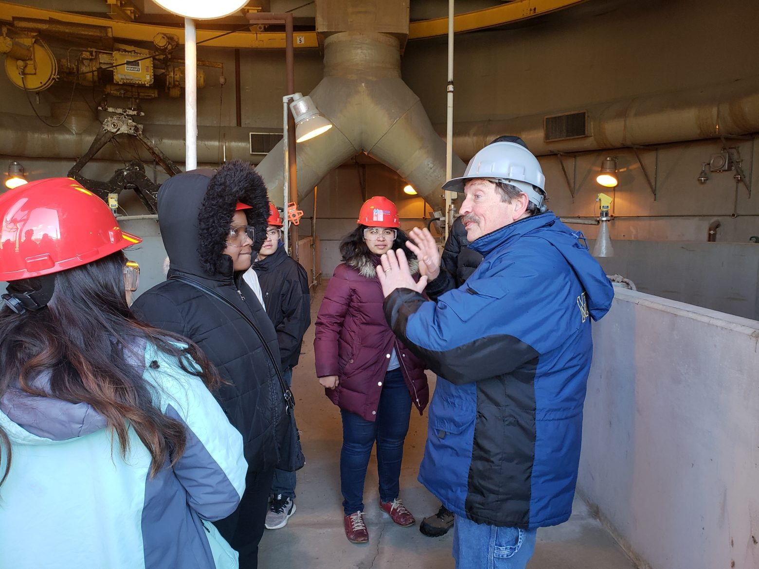 Mr. Anthony Wachocki as the tour guide for Detroit WWTP