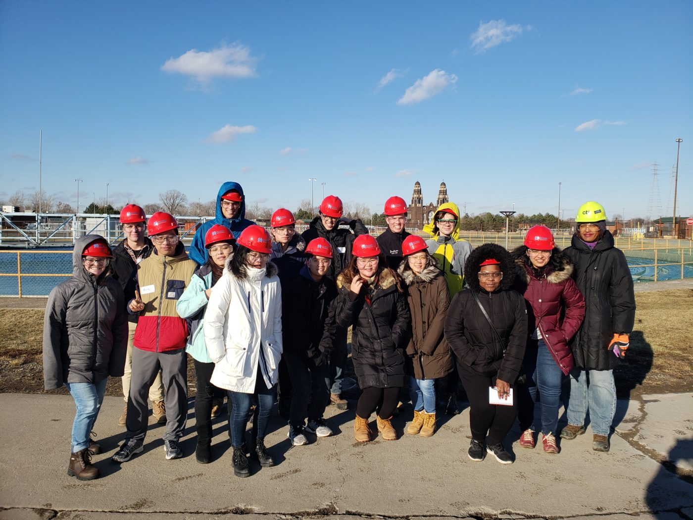 Group picture at Detroit WWTP