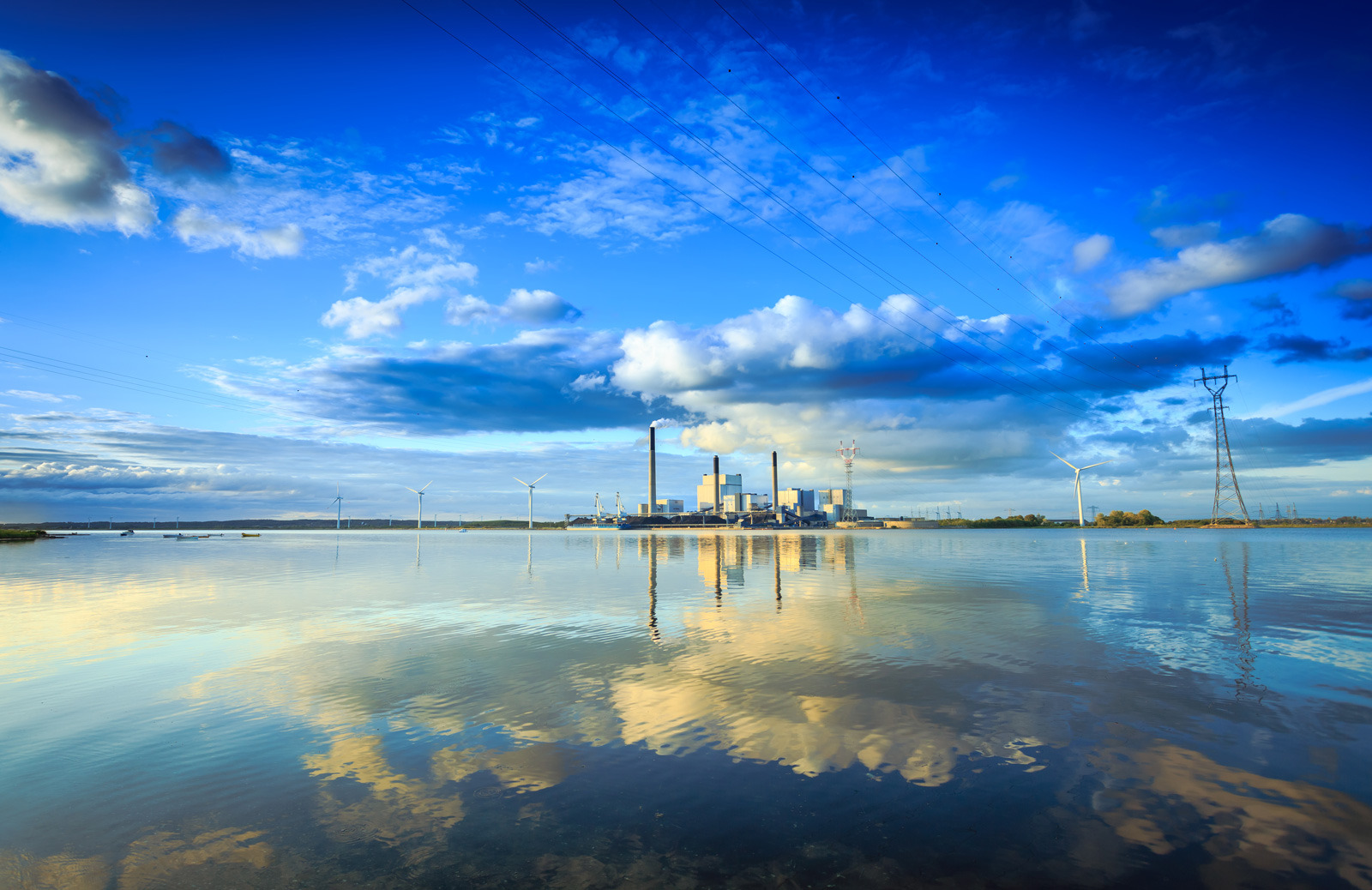 Power plant on the water. Getty Images.