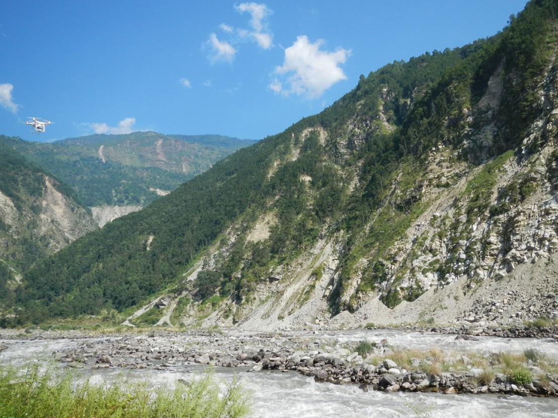 Complex of landslides, Trishuli river