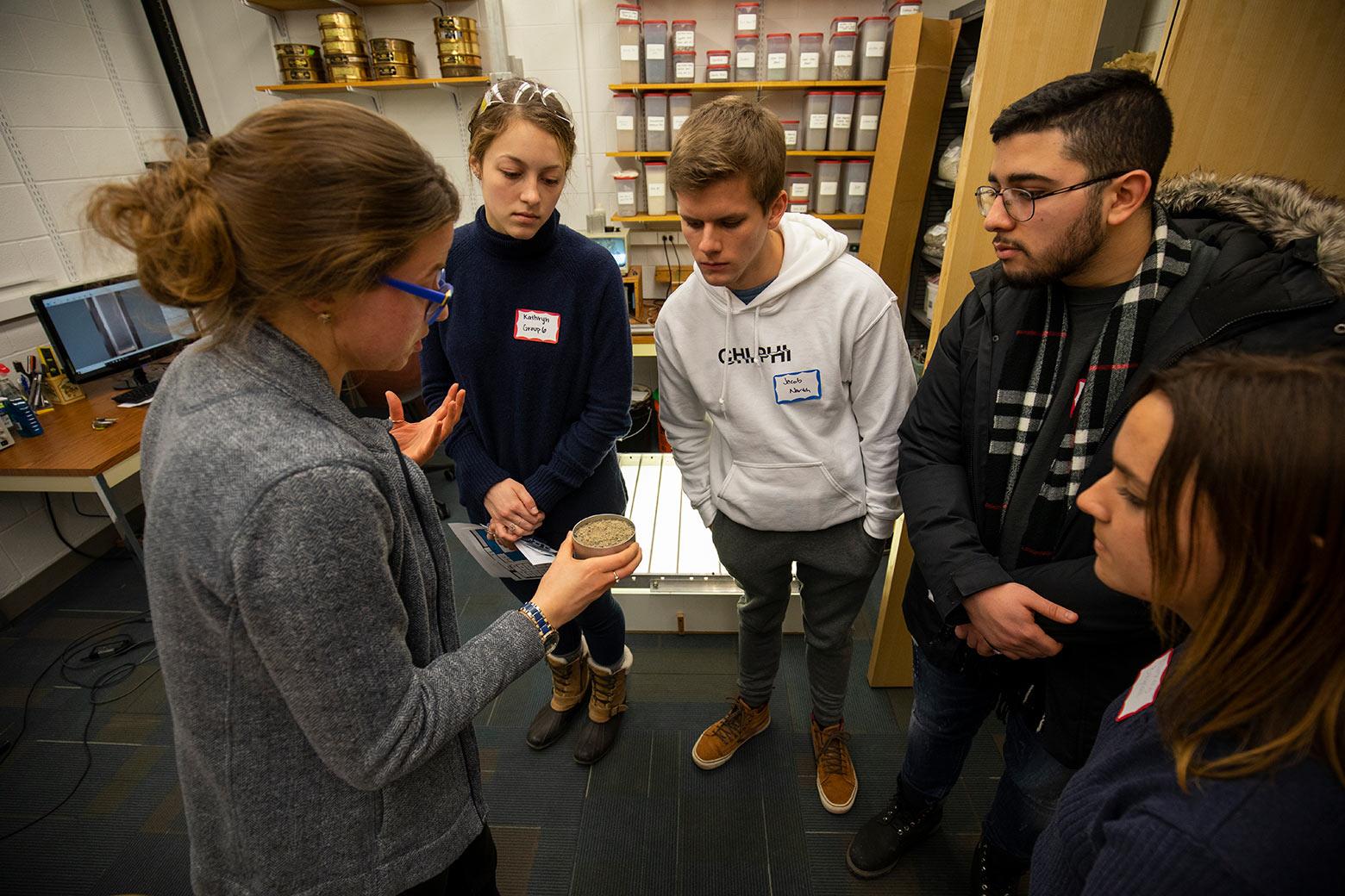 Undergraduate students get a close up of soils