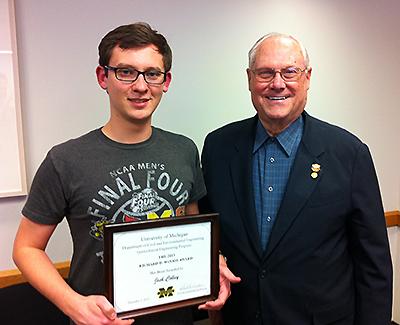 Josh Colley and Professor Richard D. Woods