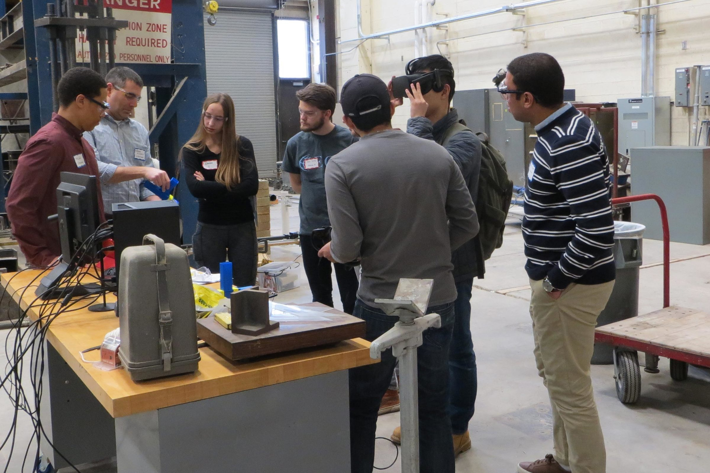 Students go behind the scenes in CEE's first research lab open house