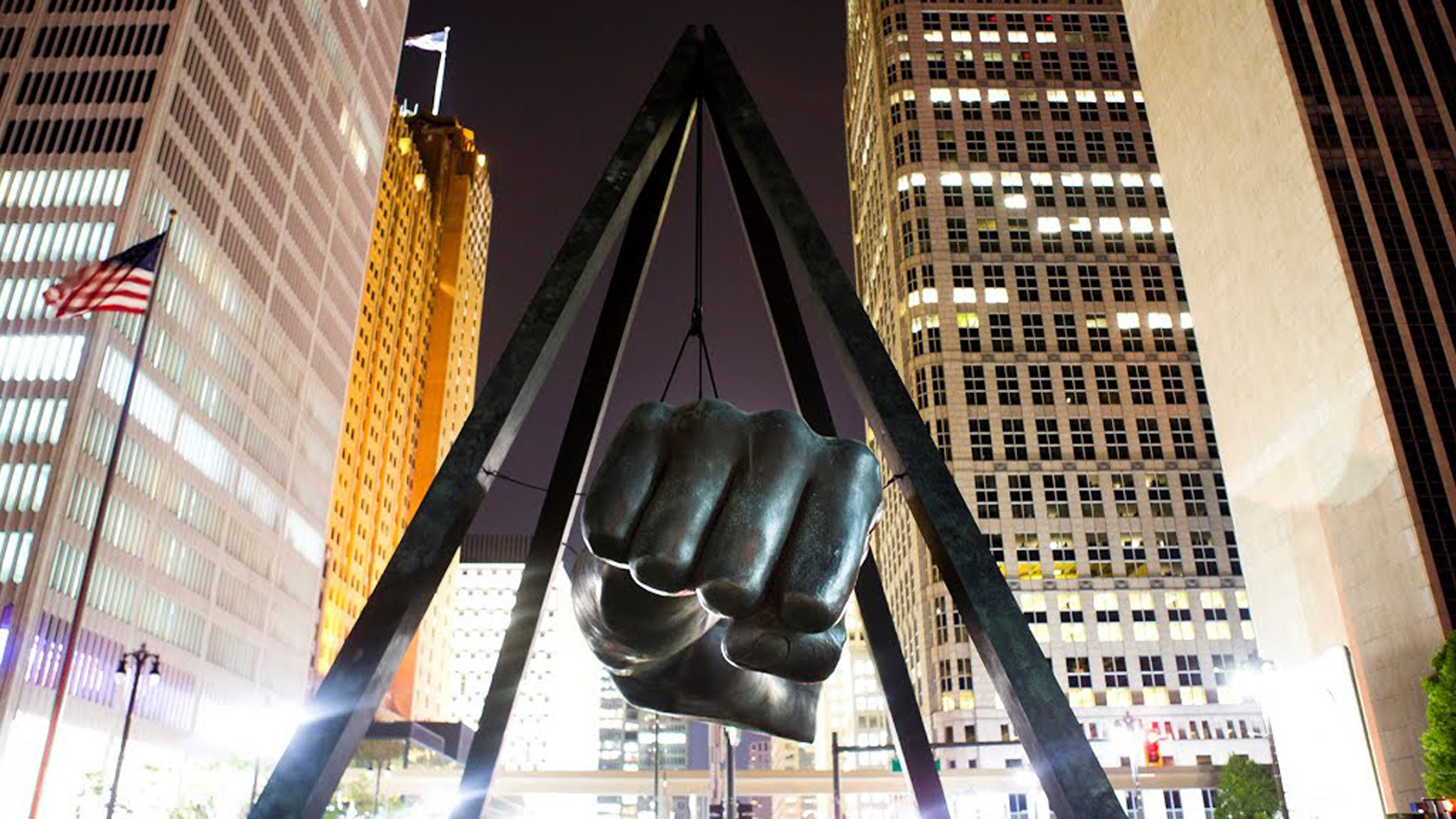 Monument to Joe Louis, AKA The Fist, in Detroit