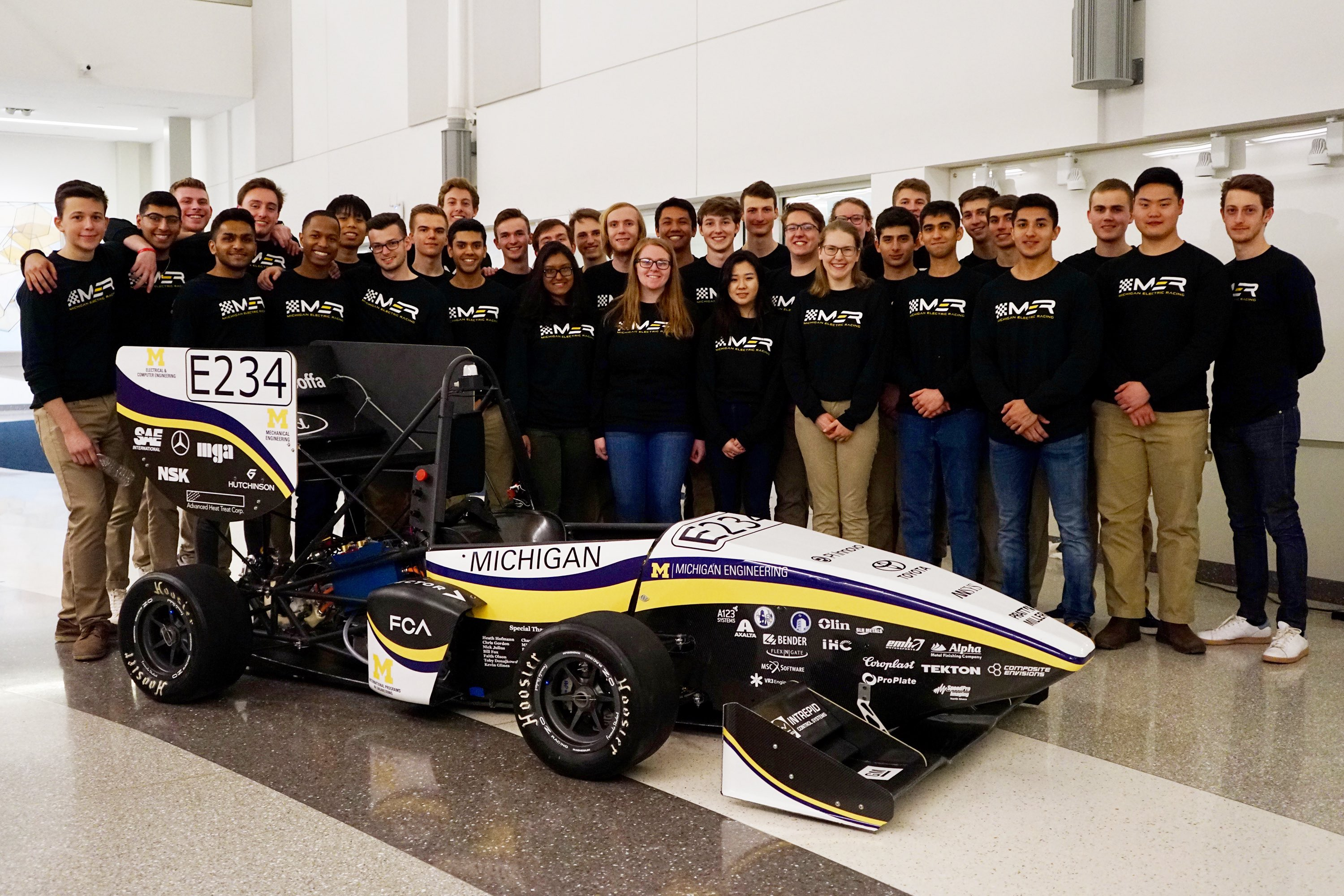 The Michigan Electric Racing Team.