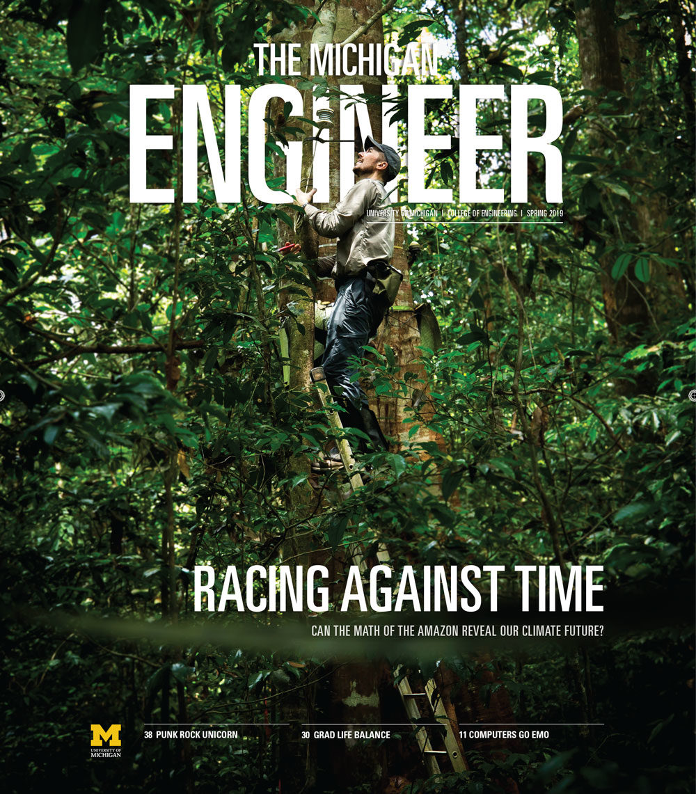 Spring 2019 Cover of the Michigan Engineer