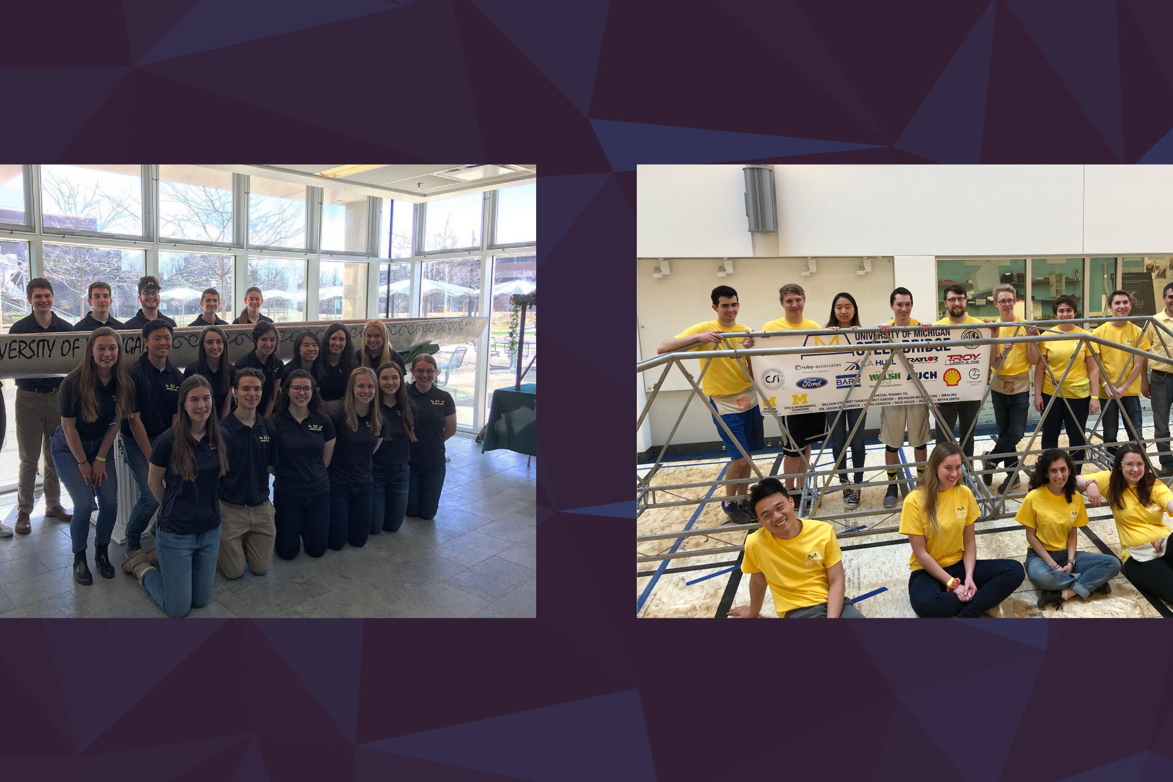 Competition highlights from Steel Bridge and Concrete Canoe teams