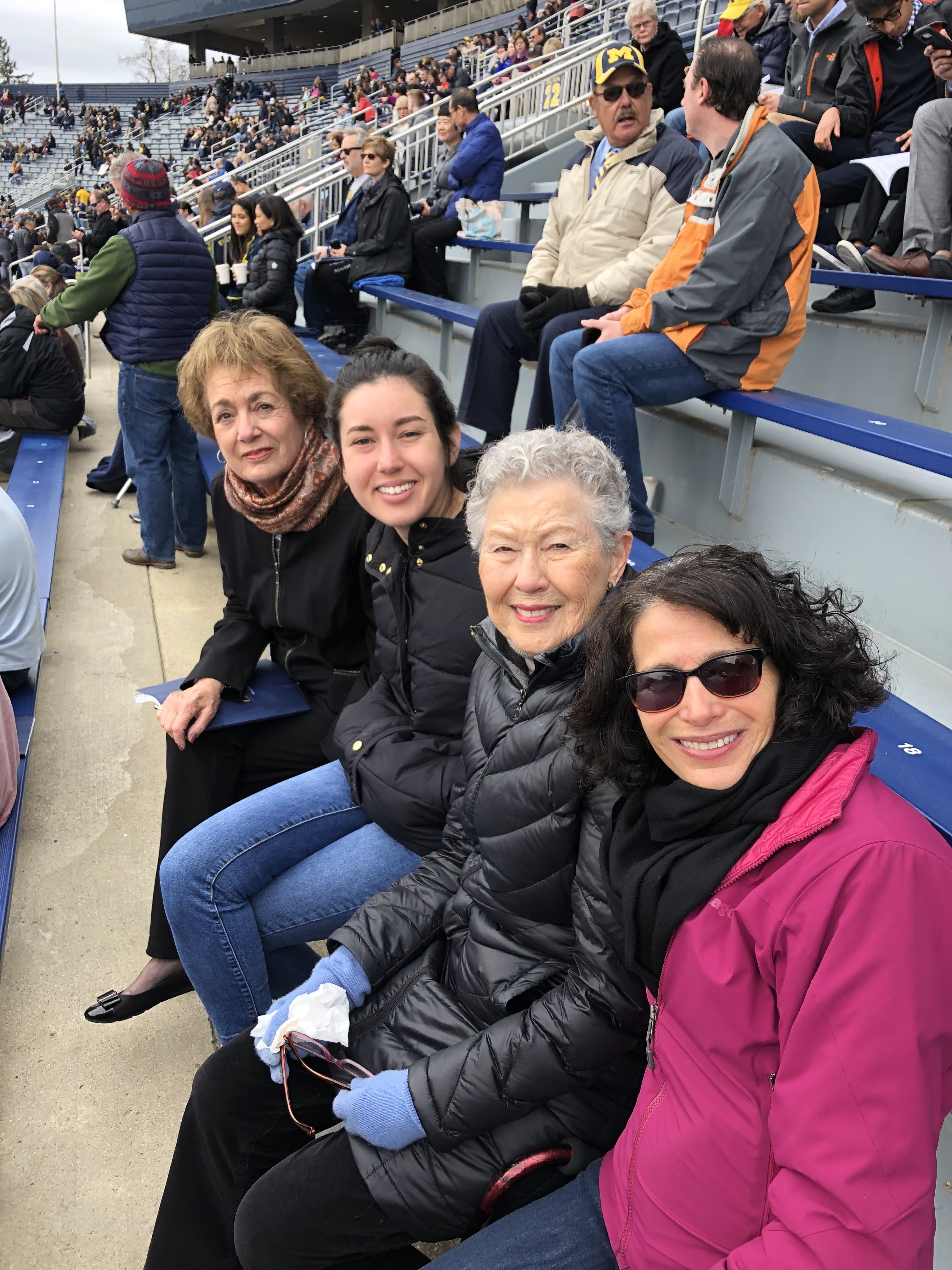 Photo of Jill Feldman and family members at the 2019 Spring Commencement