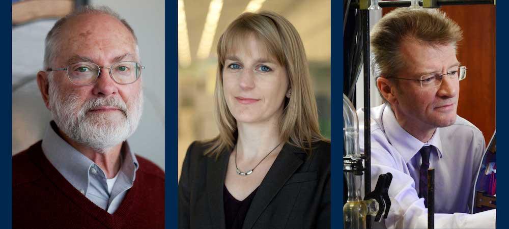 Prof. Emeritus John Barker; Prof. Allison Steiner; Adjunct Prof. Tim Wallington