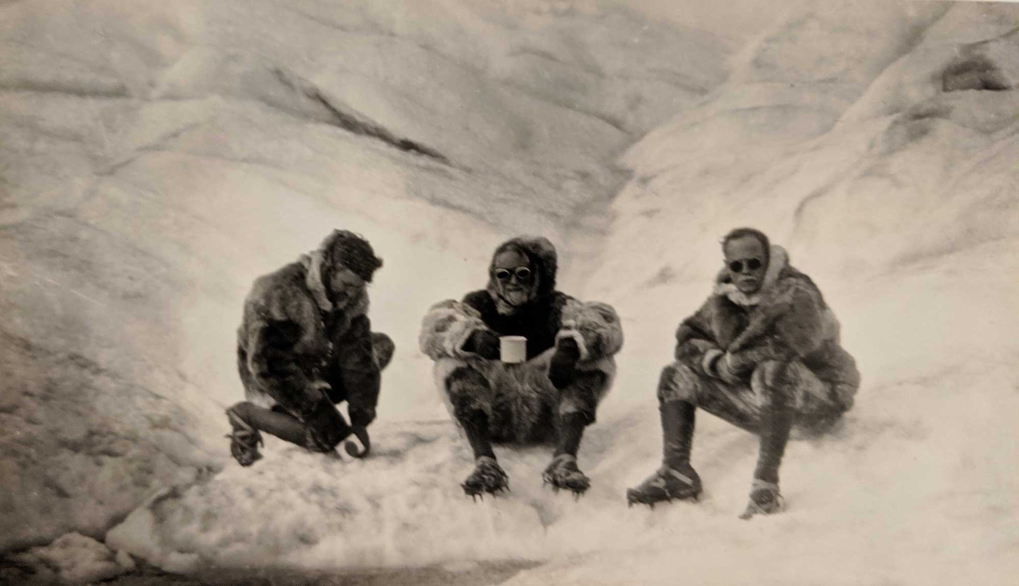 Taking a break. Greenland, 1926.