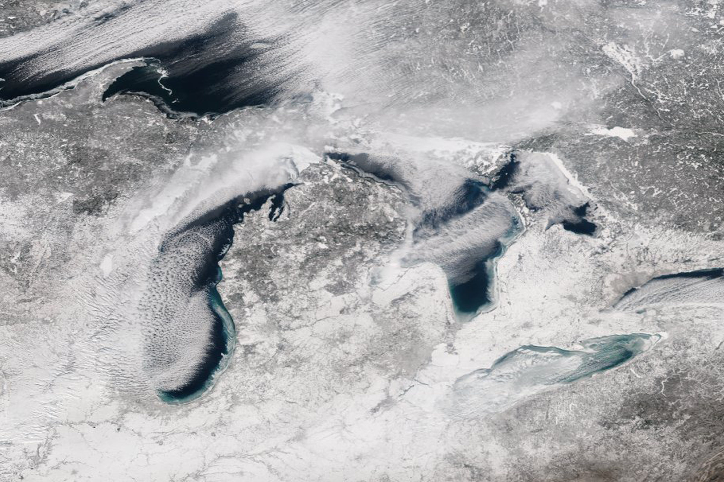 Satellite photo of the Great Lakes. Photo: NASA