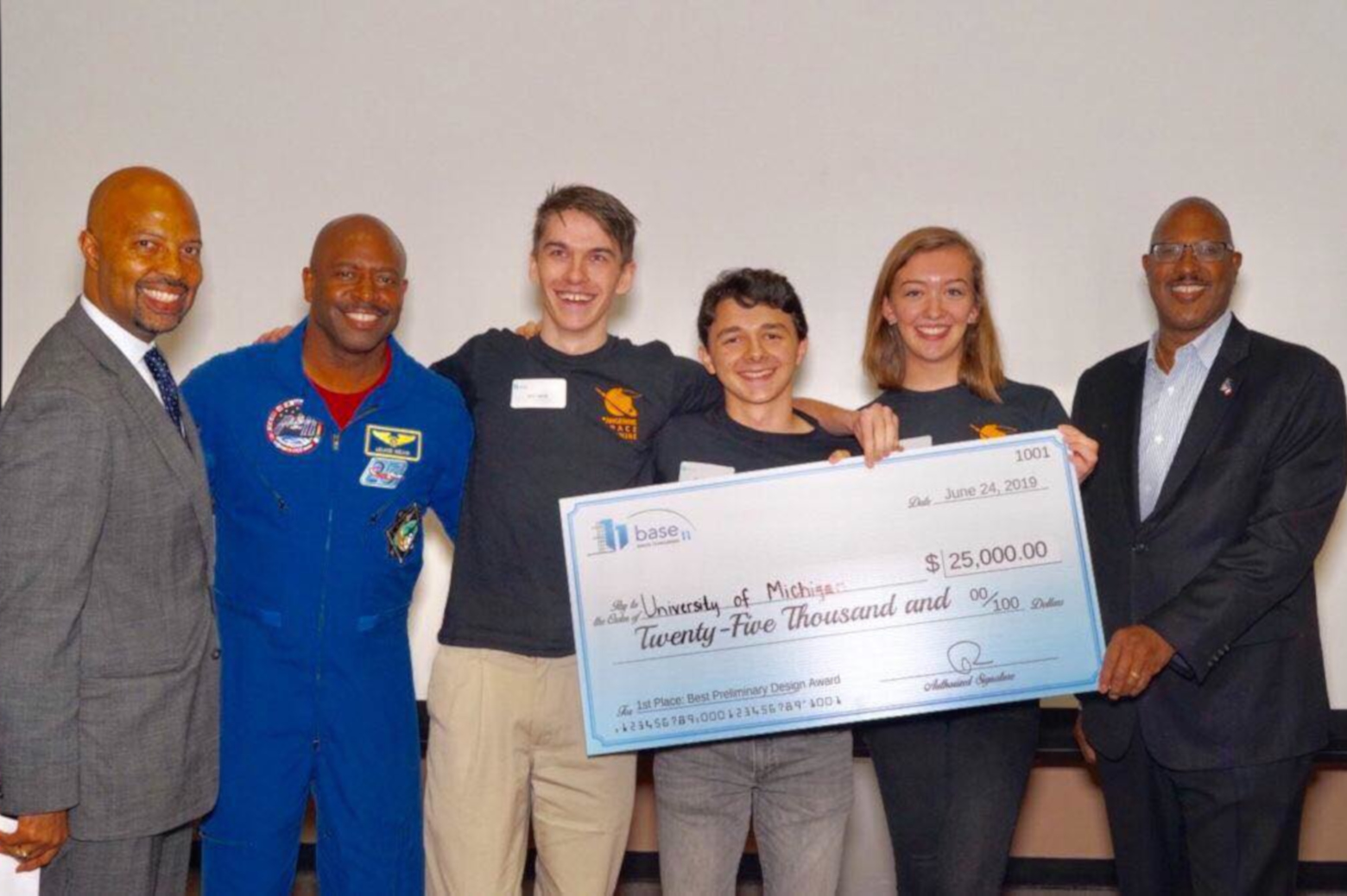 At the Next Frontier event, MASA student representatives met Astronaut Leland Melvin and heard a series of inspiring talks encouraging involvement in STEM and in the space industry. Photo credit: Base 11.
