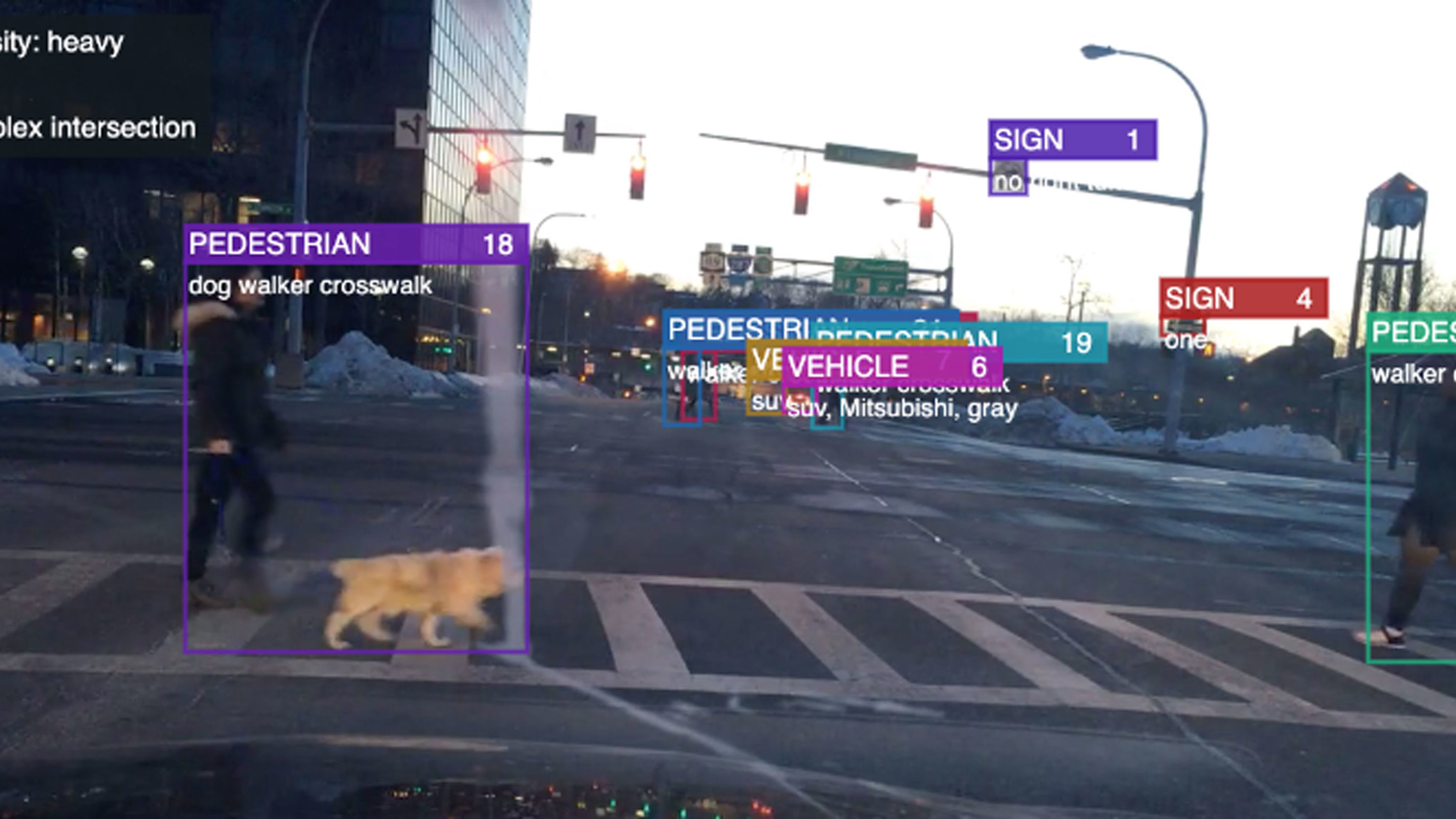 Screenshot of traffic intersection