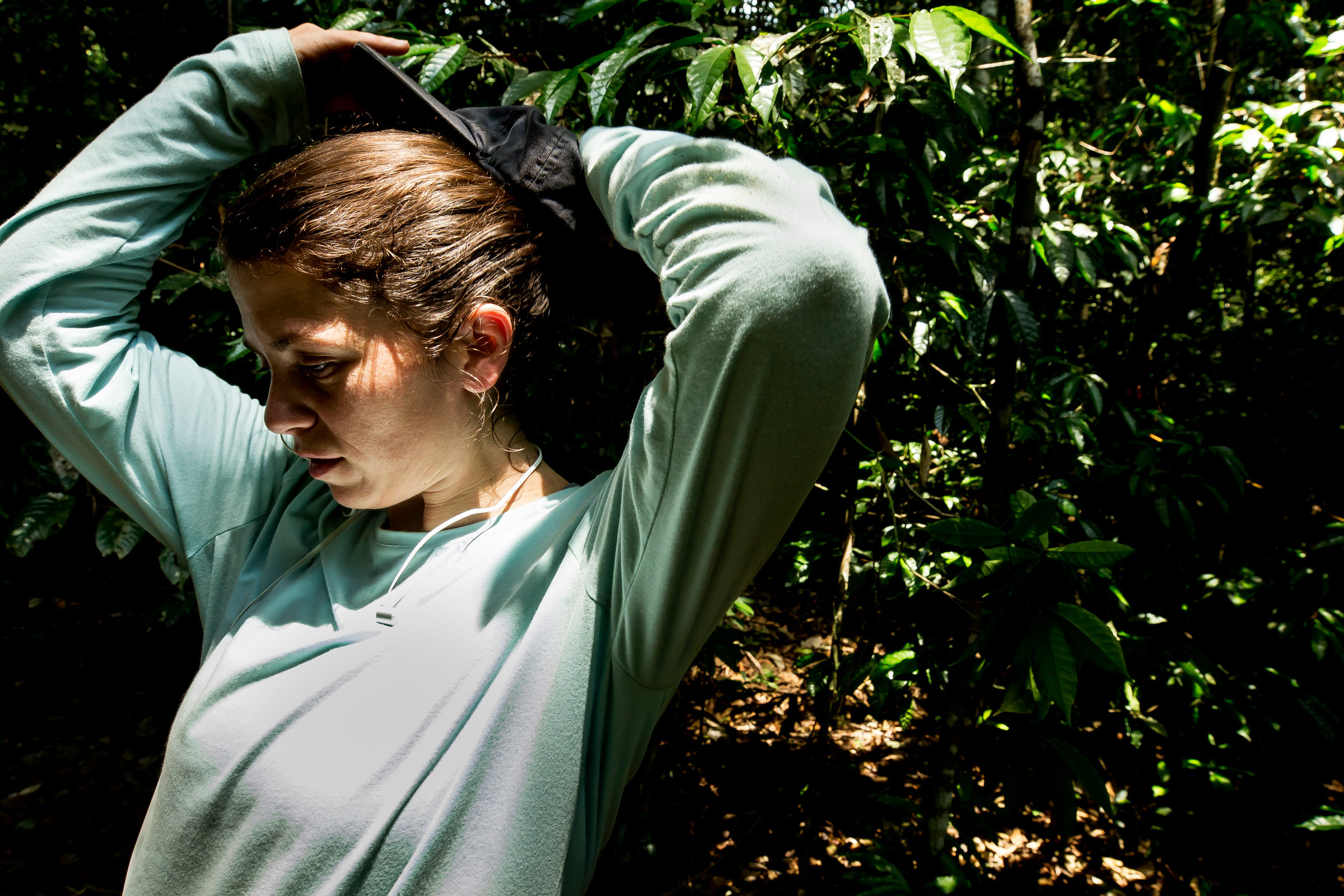 Elizabeth Agee in the Amazon rainforest.