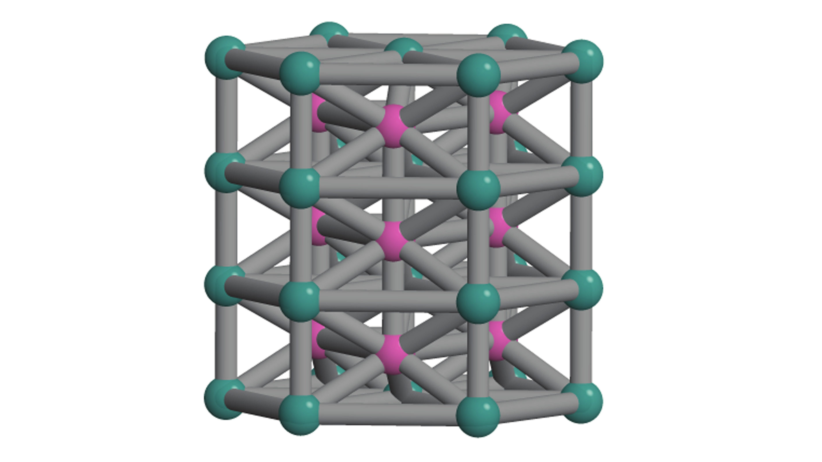 """A diagram of the crystal structure invented to test the new """"inverse design"""" computer program."""