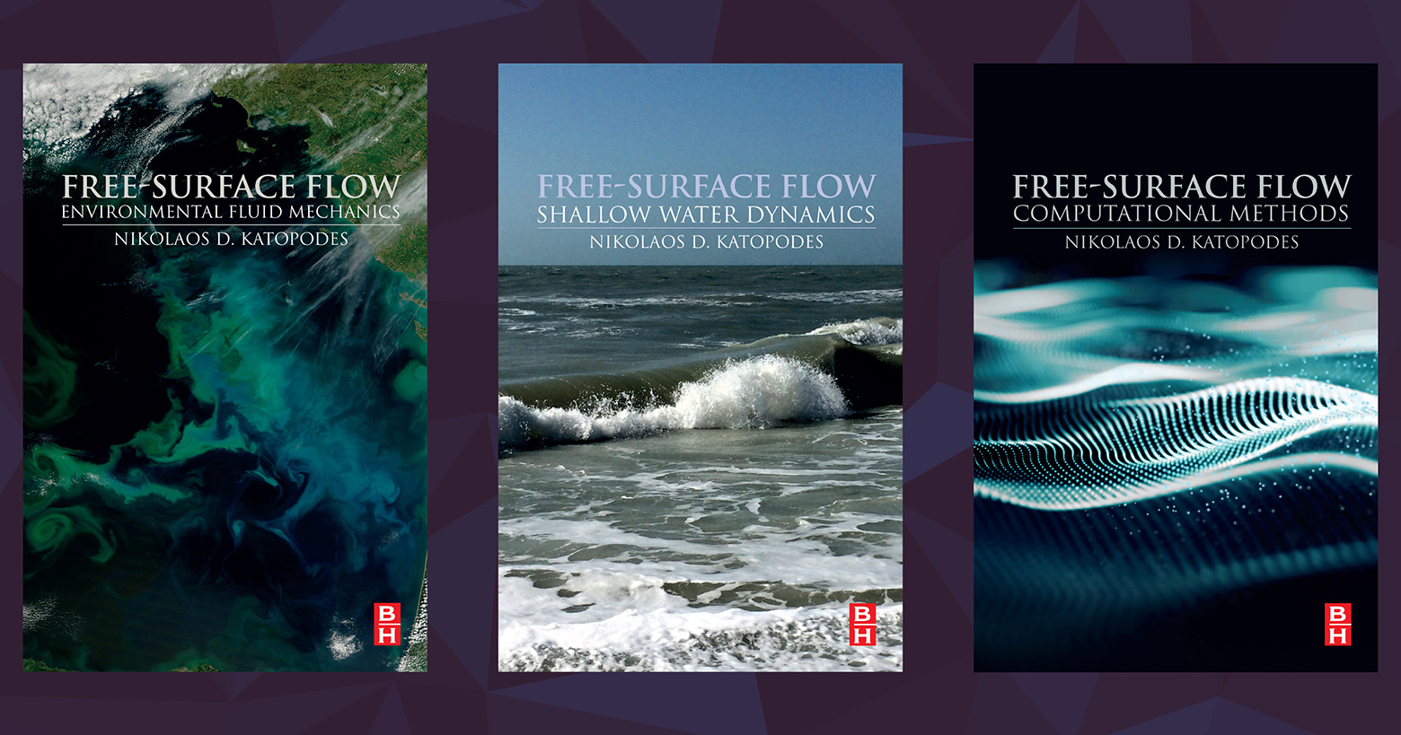 Covers of three books in Free-Surface Flow series