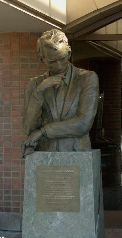 Shannon statue UM