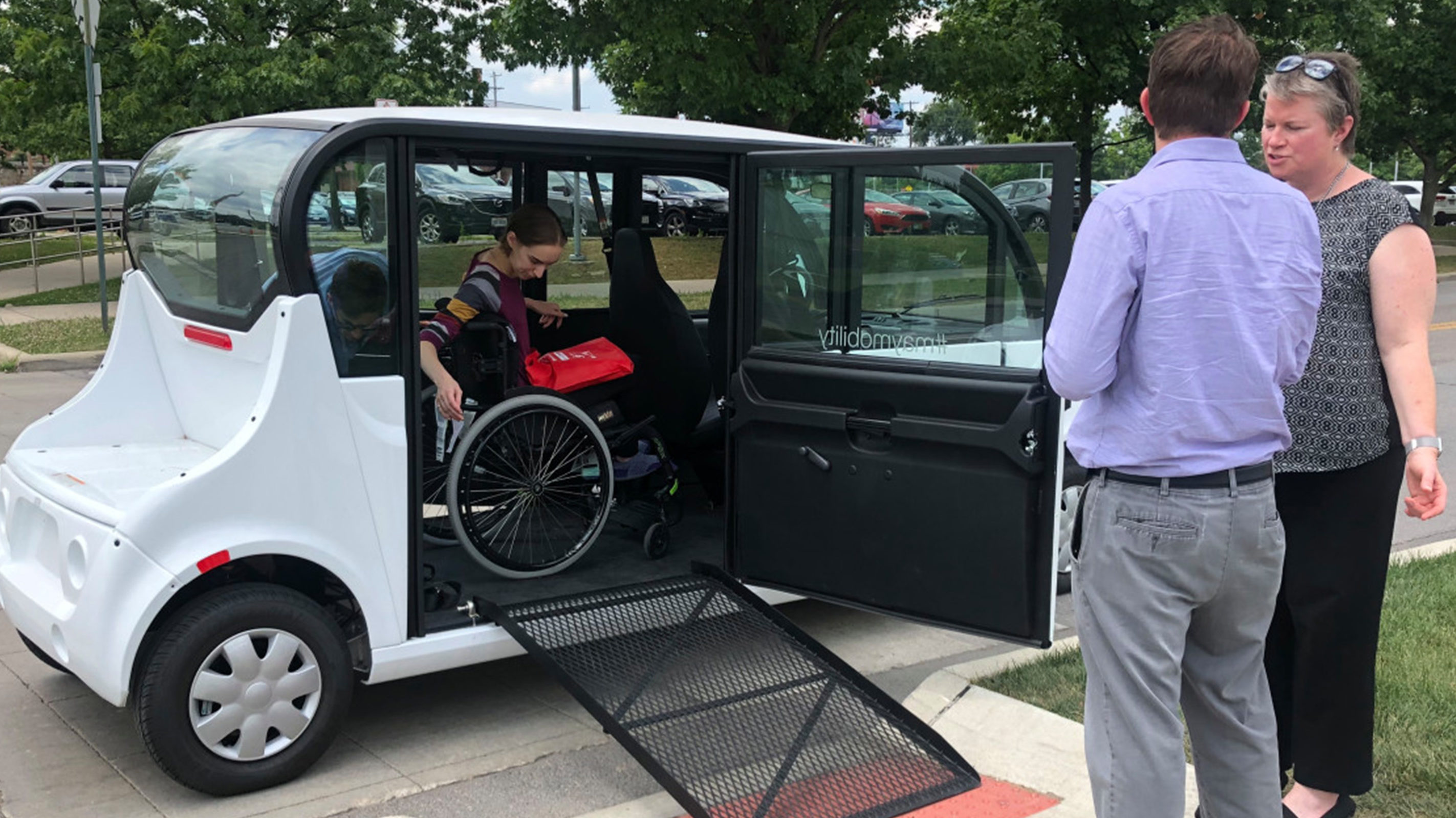 May Mobility wheelchair-accessible shuttle
