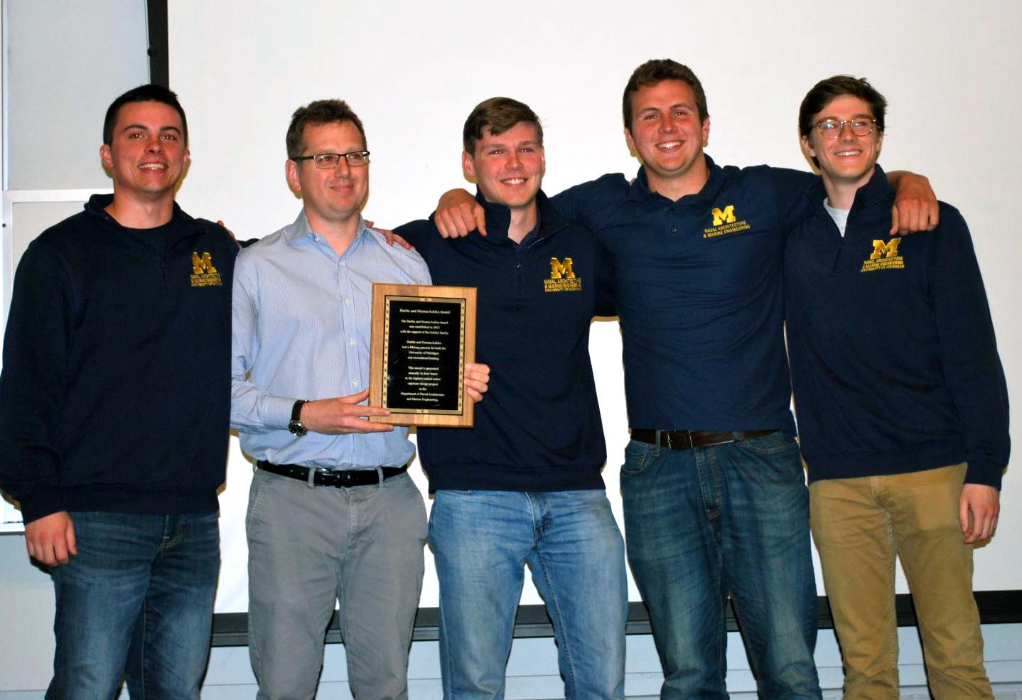 Team Blueship; SNAME Lysnyk Winners
