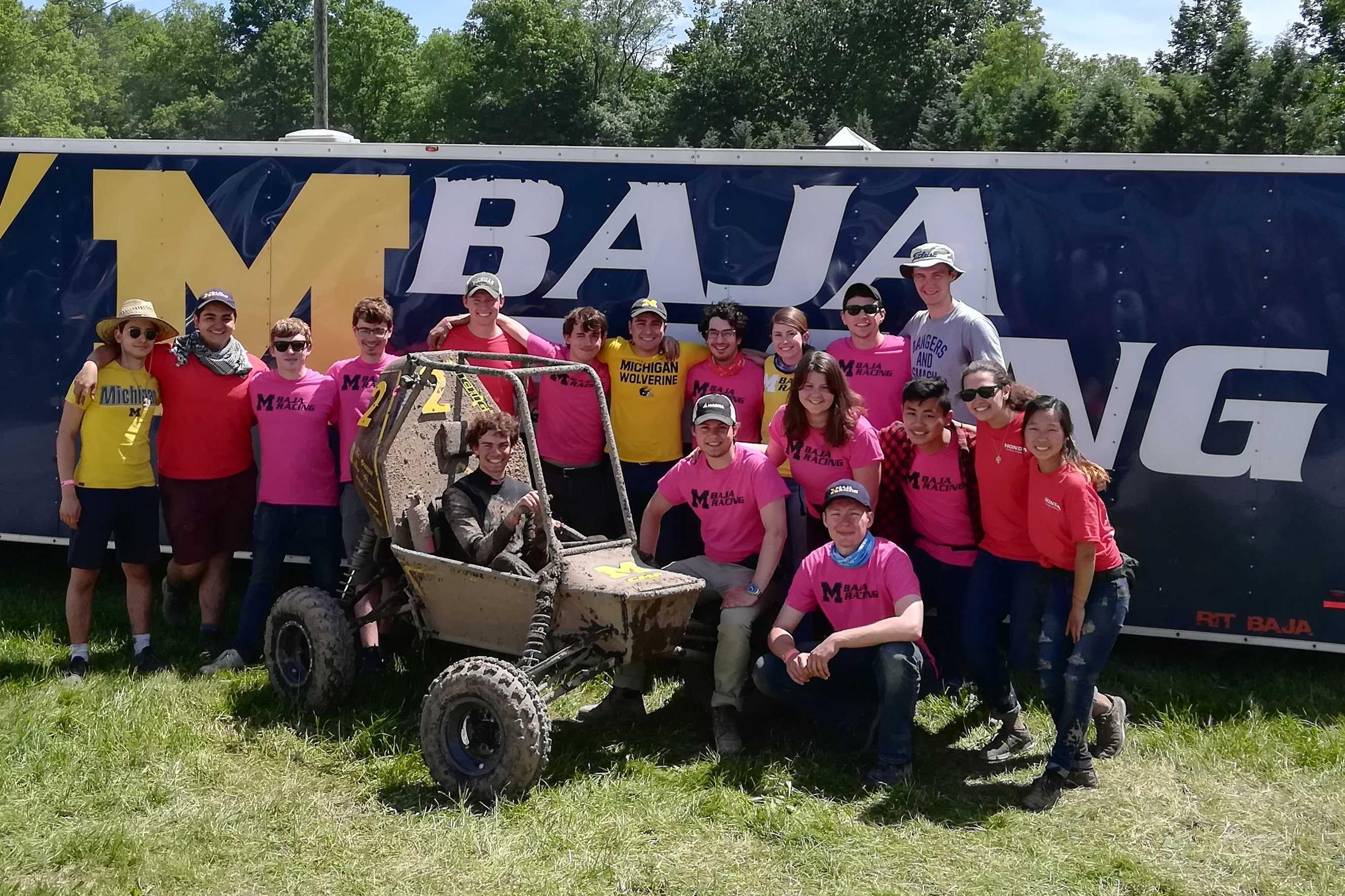 Michigan Baja Racing Team and Car