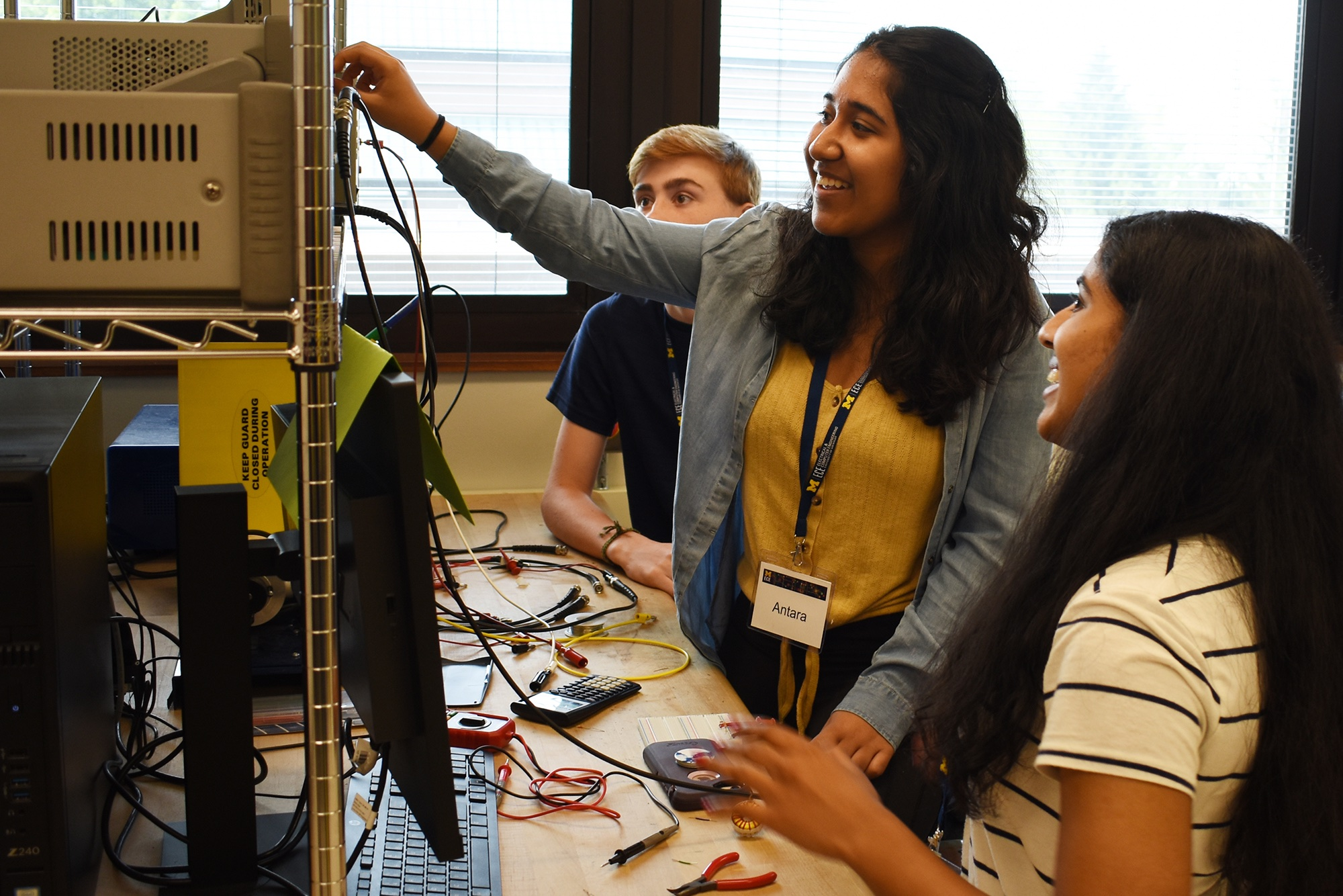 Students work in lab during Electrify Tech Camp