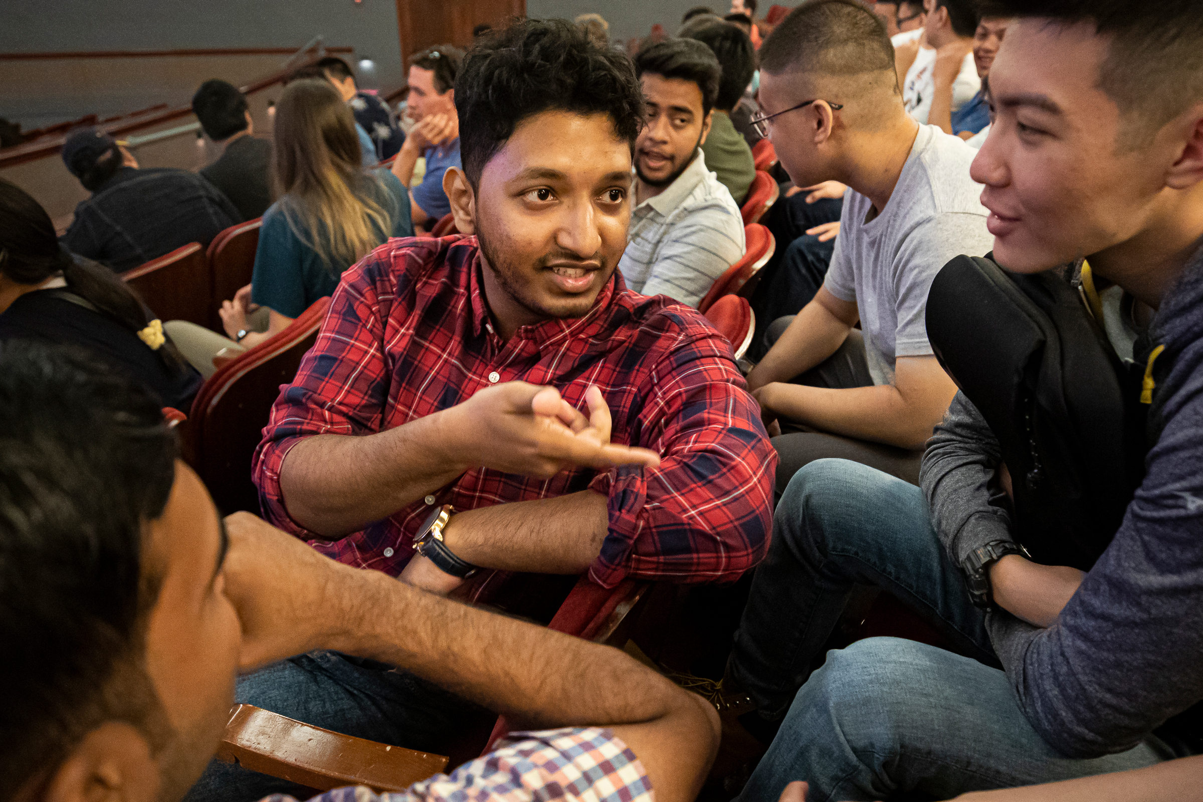 A bystander intervention workshop at the Michigan Engineering Graduate Student Orientation in August 29. Change it UP! Bystander intervention teaches similar practices. Photo: Joseph Xu/Michigan Engineering