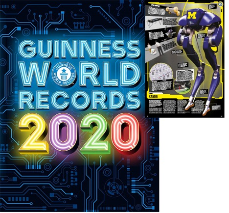 Cassie next to Guinness World Record 2020 book